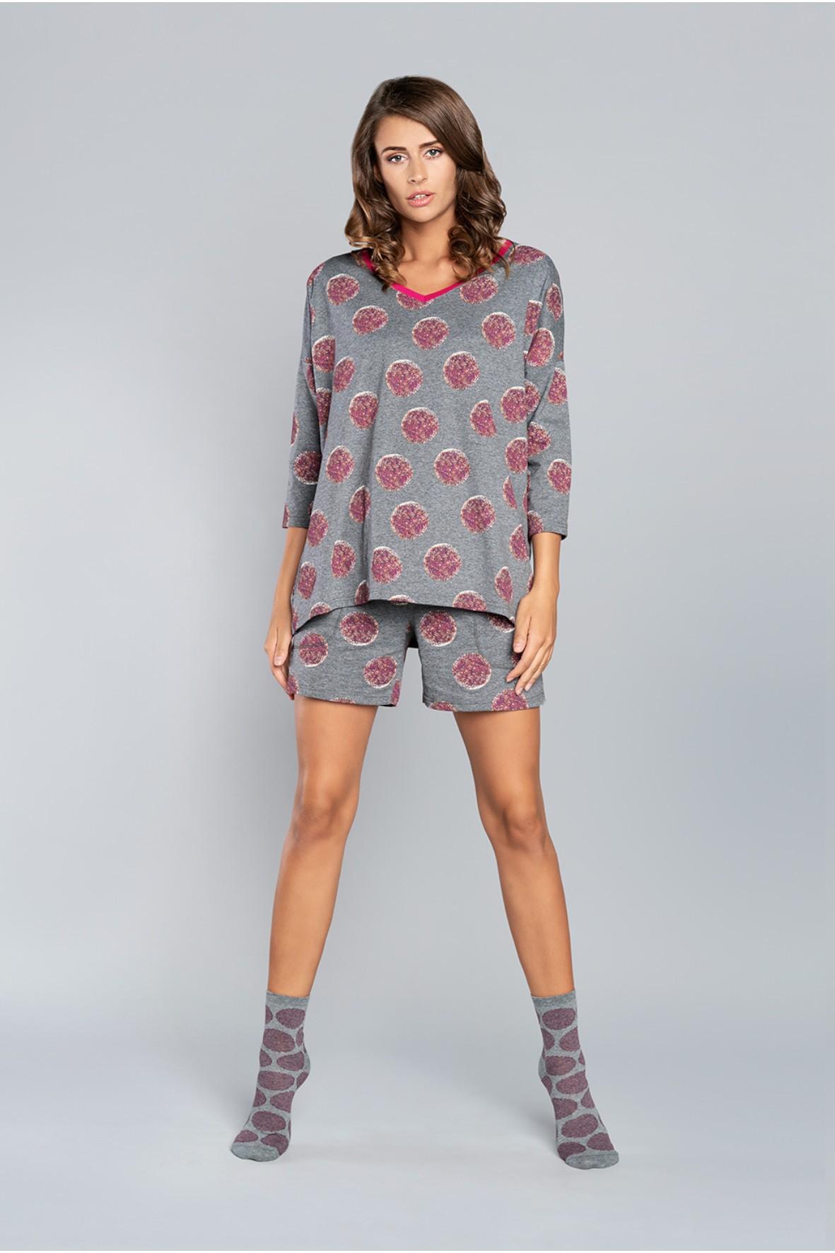 Piżama Laboni 3/4 rękaw, krótkie spodnie
