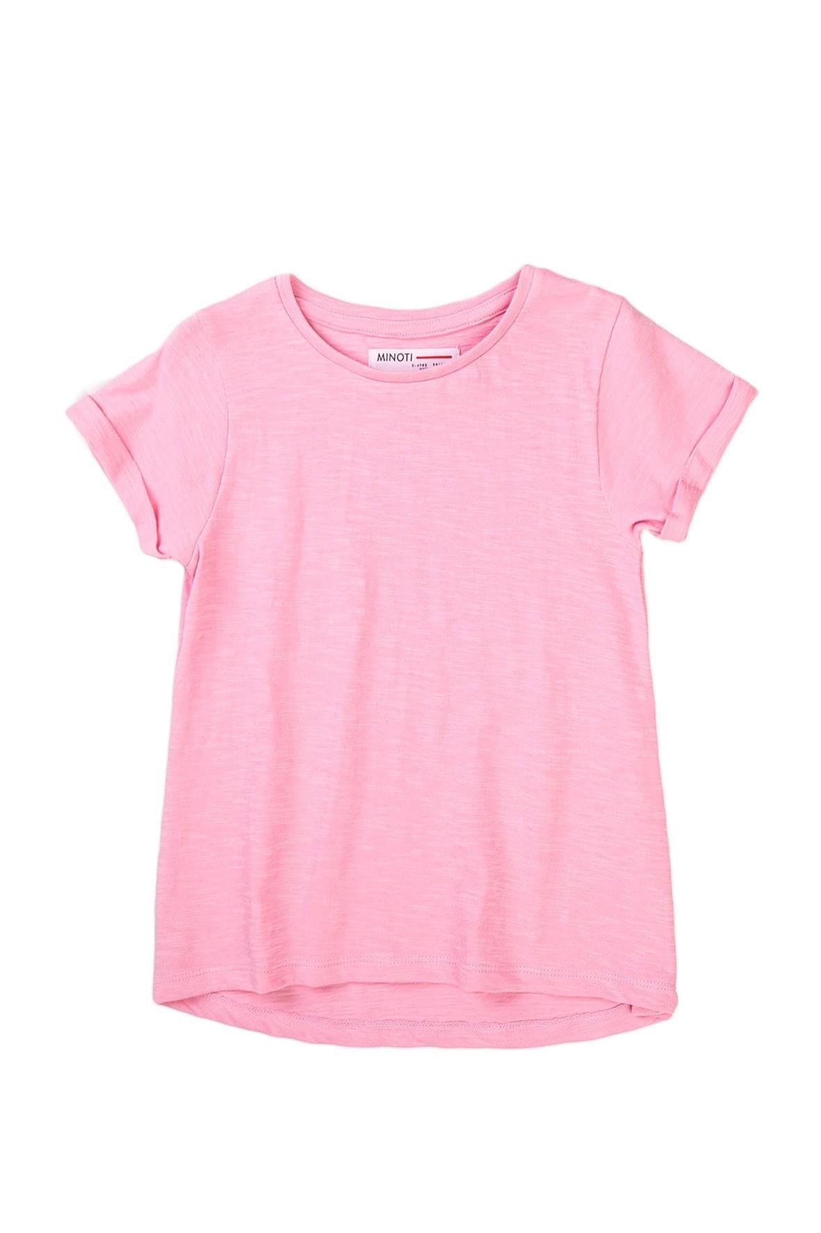 T-shirt dziewczęcy klasyczny różowy