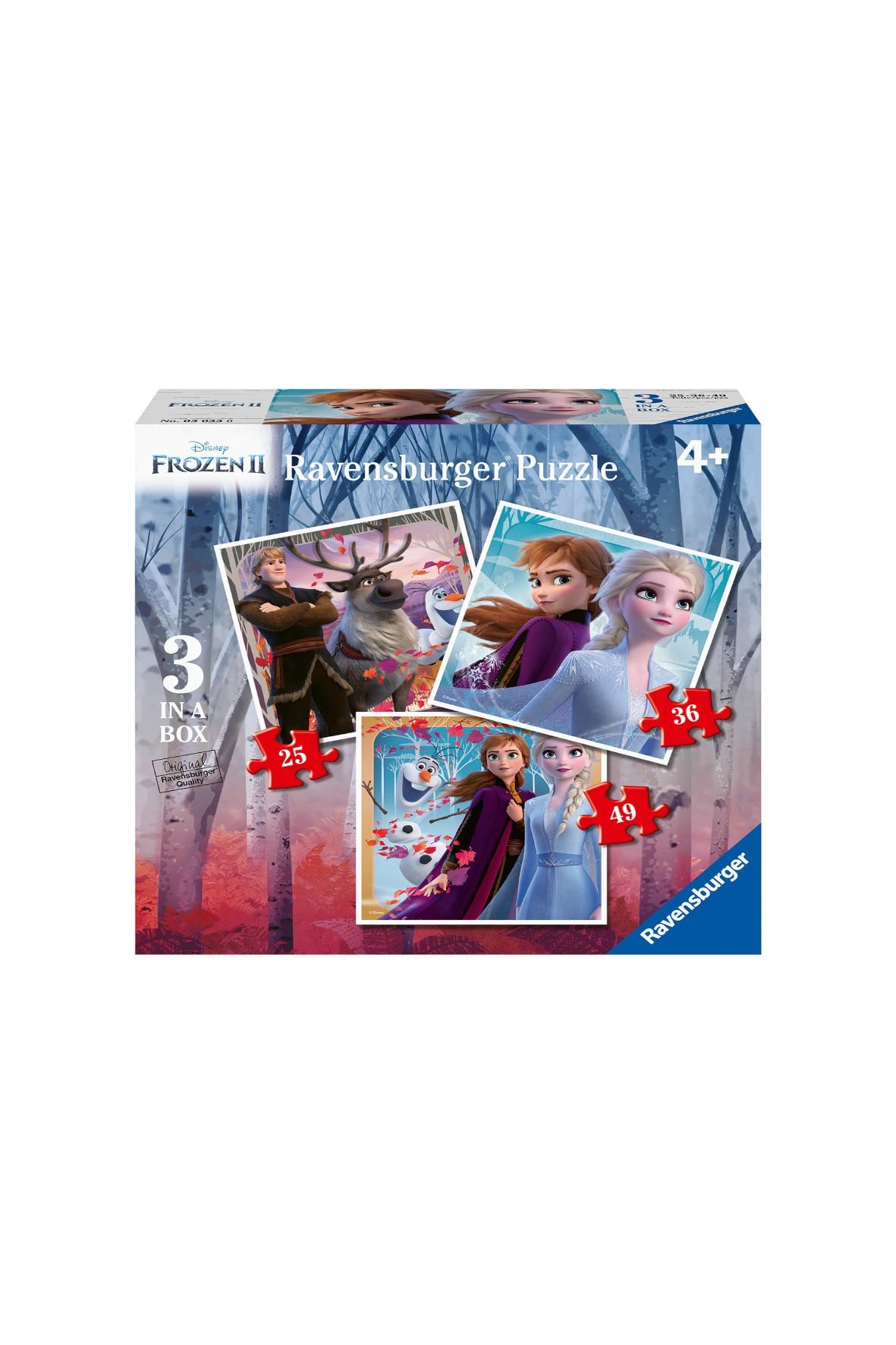Puzzle Frozen 2 - 3W1 25/36/49 elementów 4+