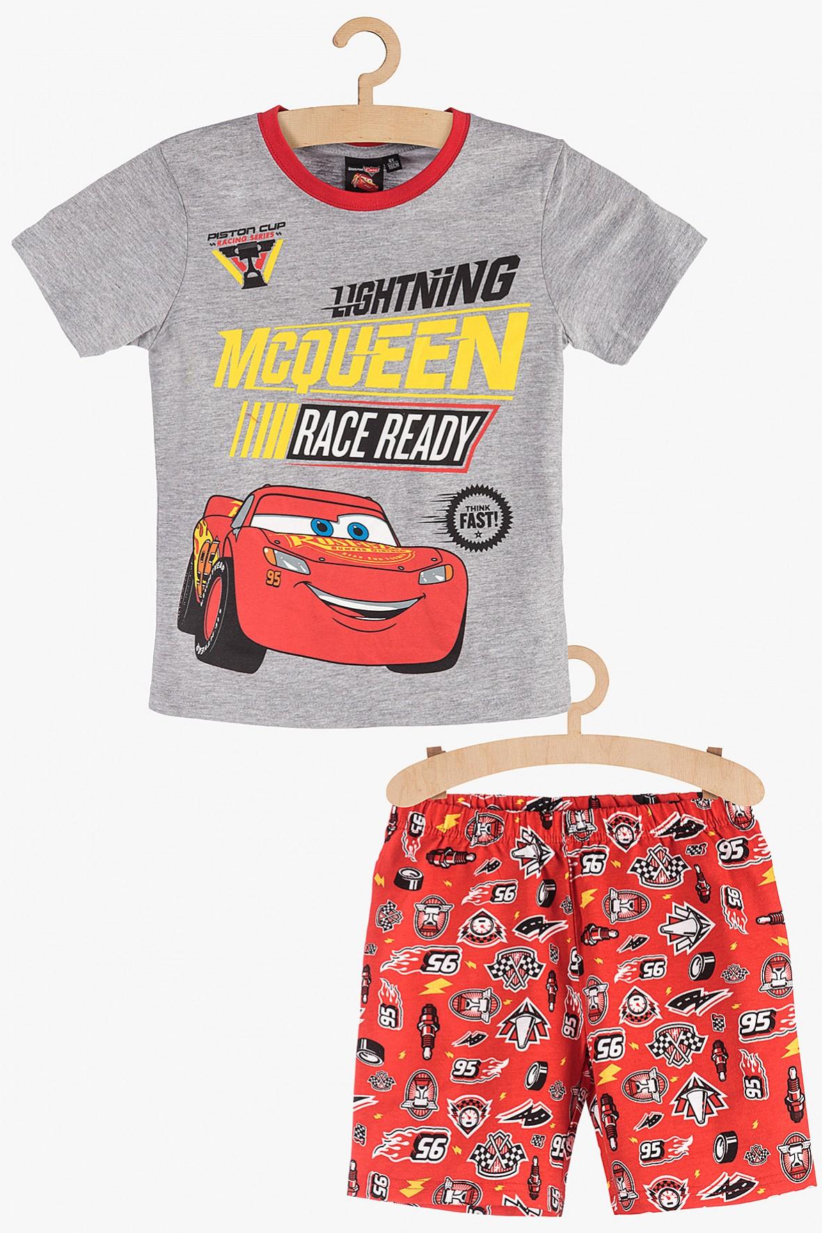 Pidżama chłopięca szaro-czerwona Zygzak McQueen