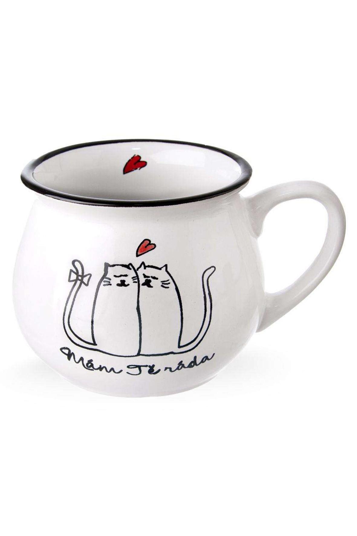 Kubek ceramiczny koty -  300 ml