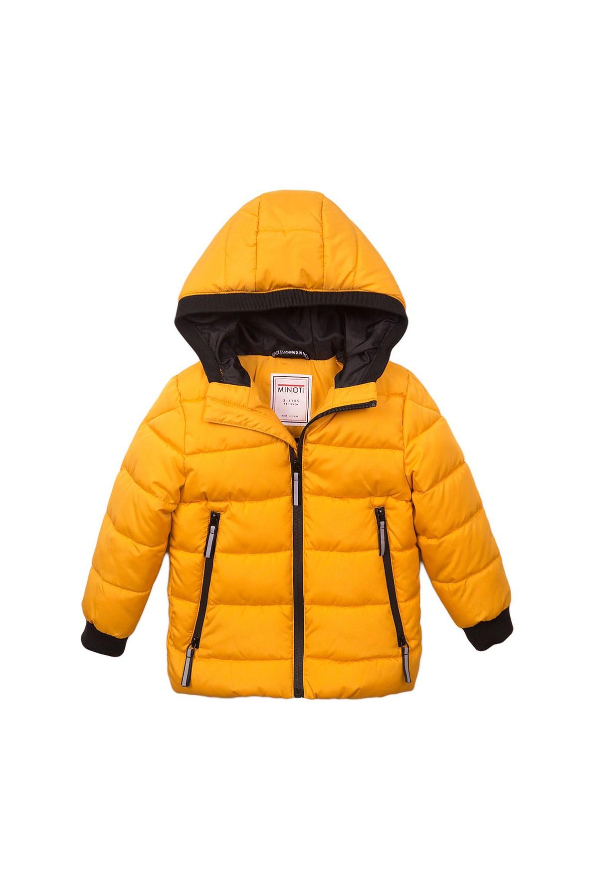 Kurtka zimowa dla niemowlaka- żółta z odblaskami