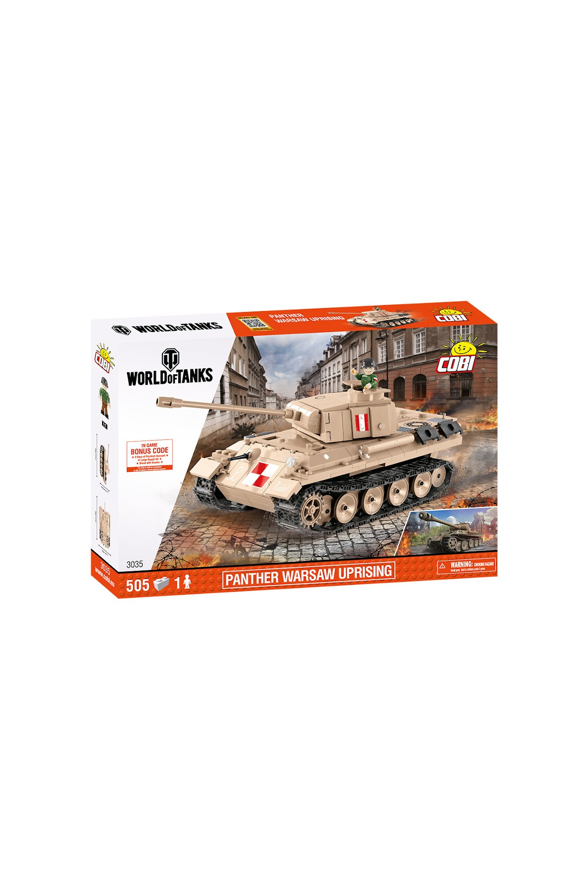 Klocki Cobi Small Army WOT PZKPFW V Panter Warsaw Up 506el
