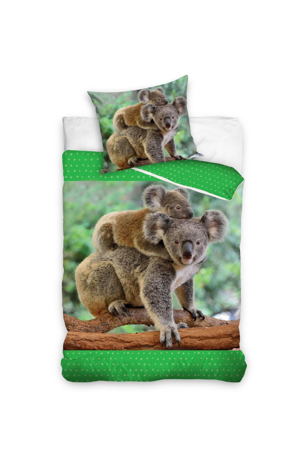 Pościeli bawełniana Koala 160x200+70x80 cm