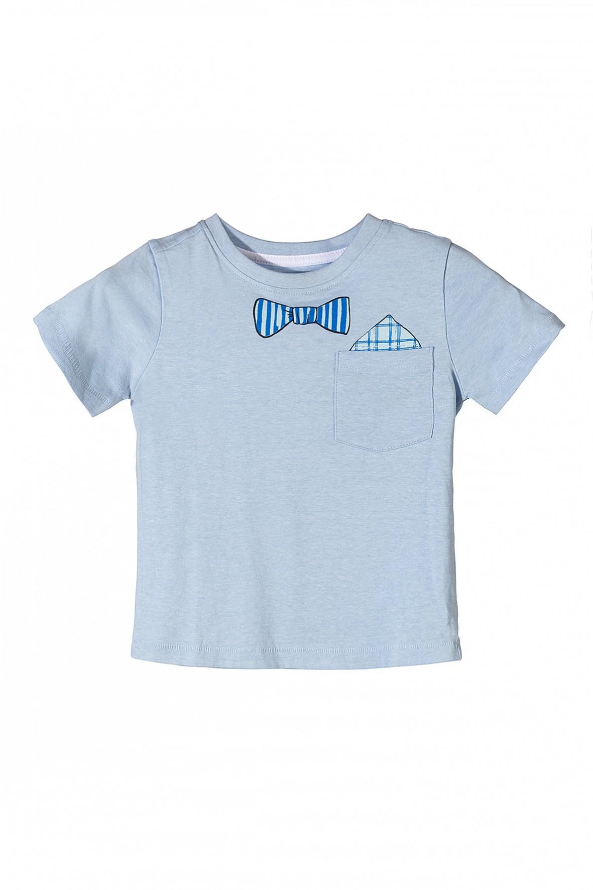 T-shirt chłopięcy z muszką