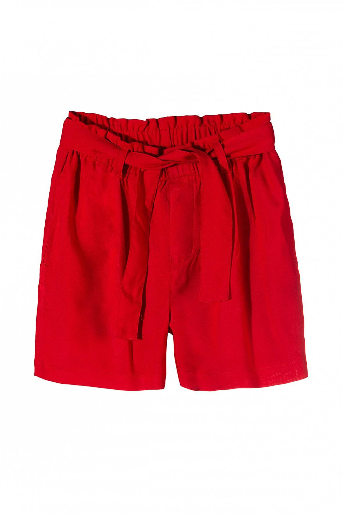 Spodnie dziewczęce w czerwonym kolorze