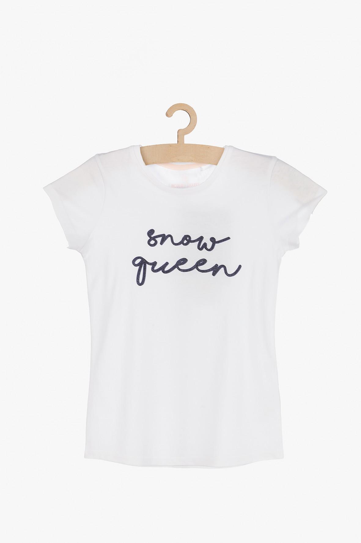 Bawełniany t-shirt dla dziewczynki- Snow Queen