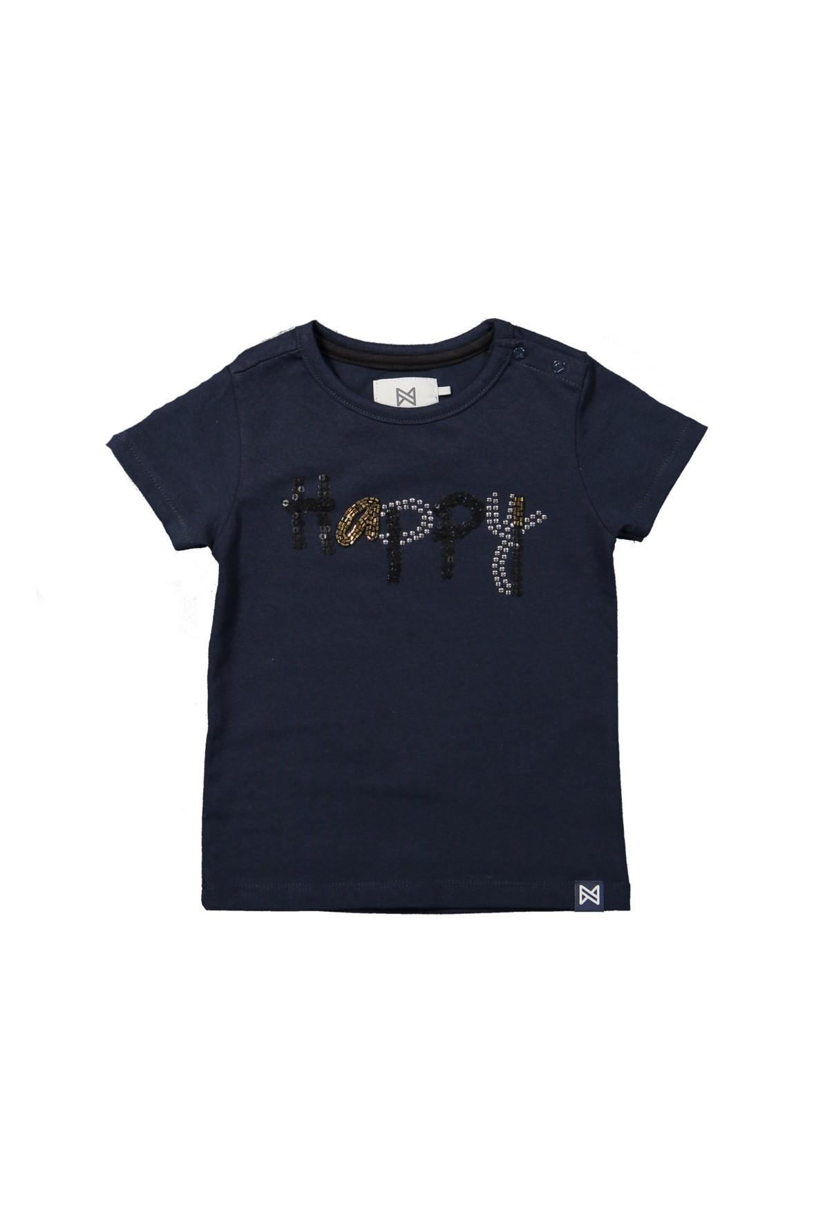T-shirt niemowlęcy z napisem happy