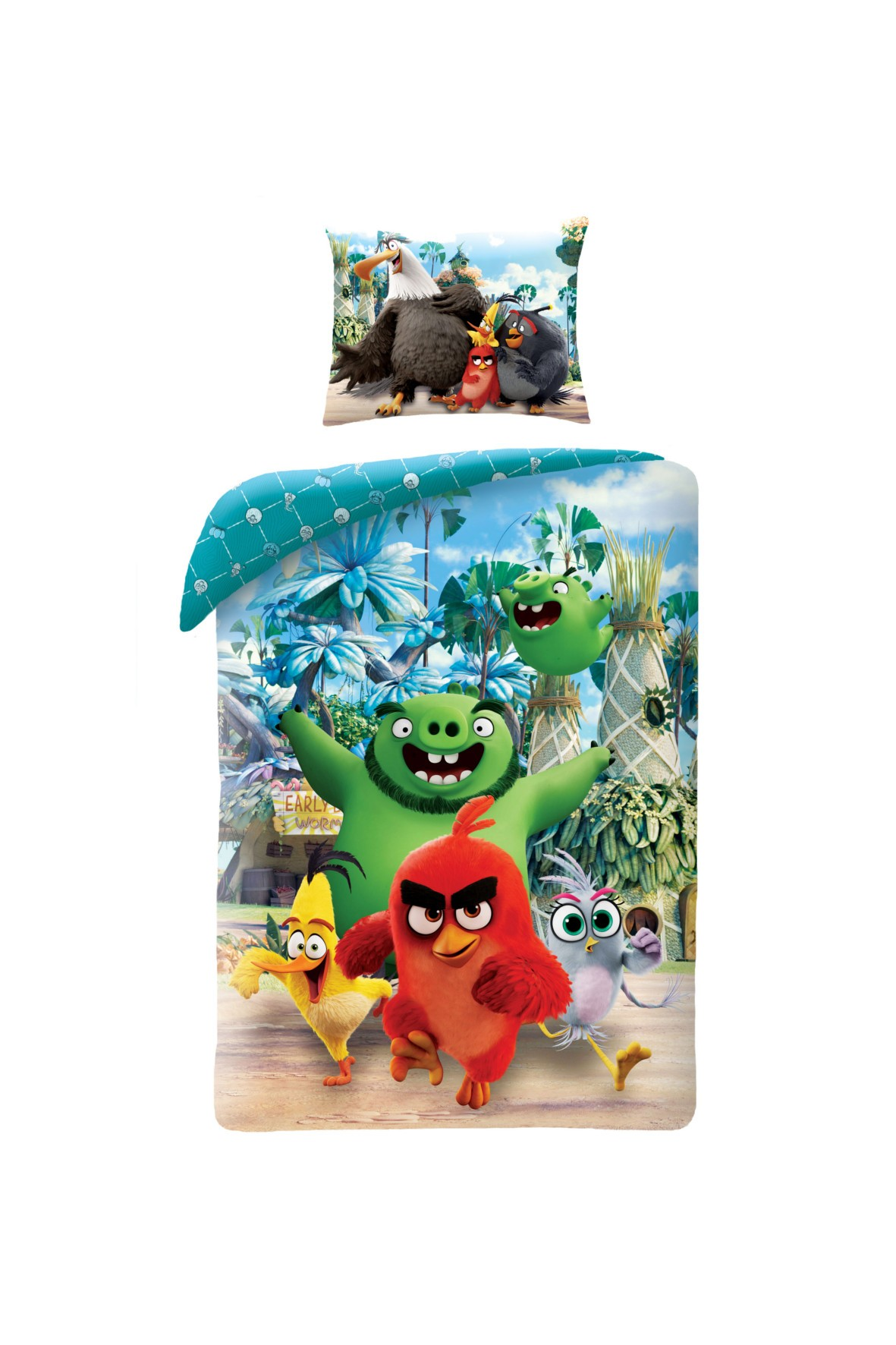 Pościel chłopięca Angry Birds 140x200cm+70x90cm