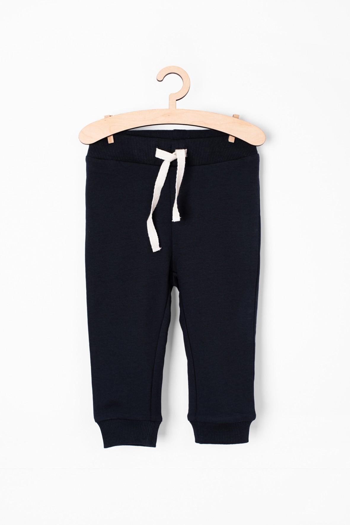 Granatowe spodnie dresowe dla niemowlaka - Organic Cotton
