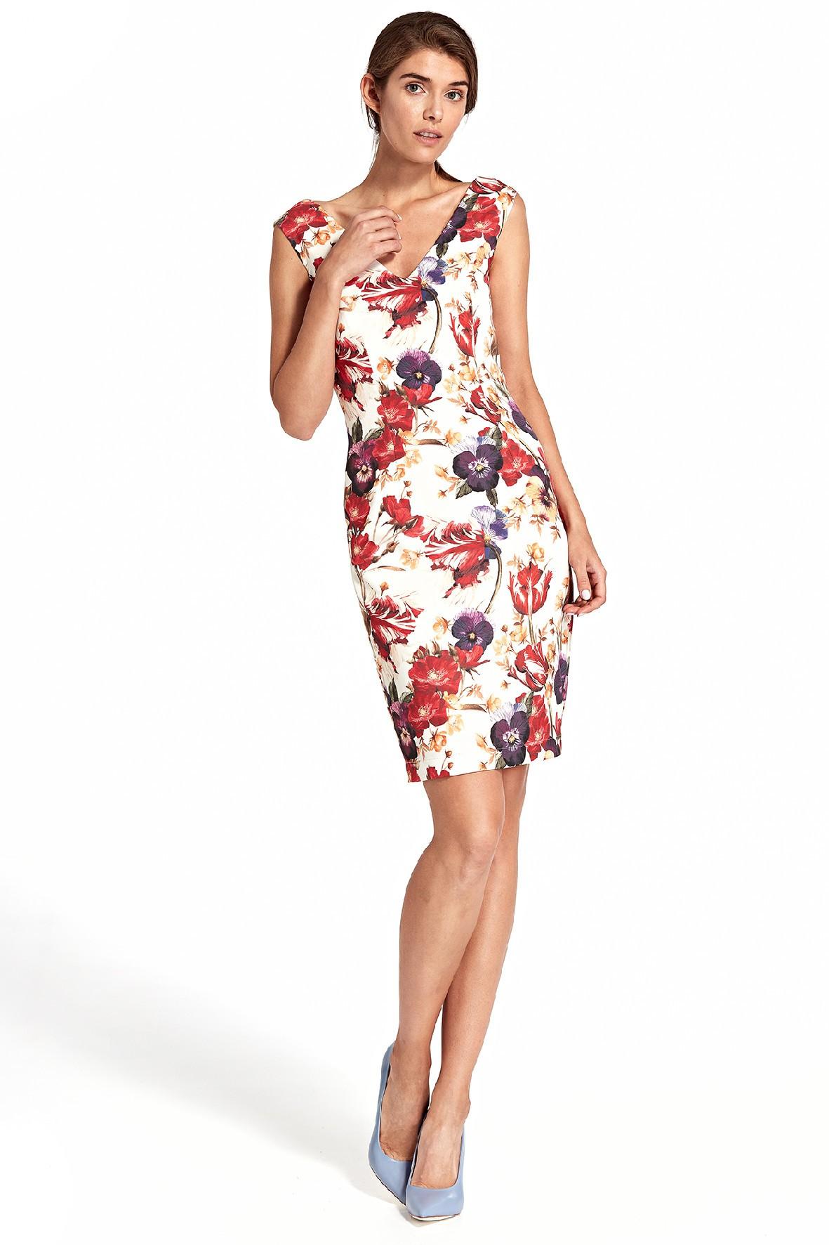 Sukienka damska w kwiaty - min