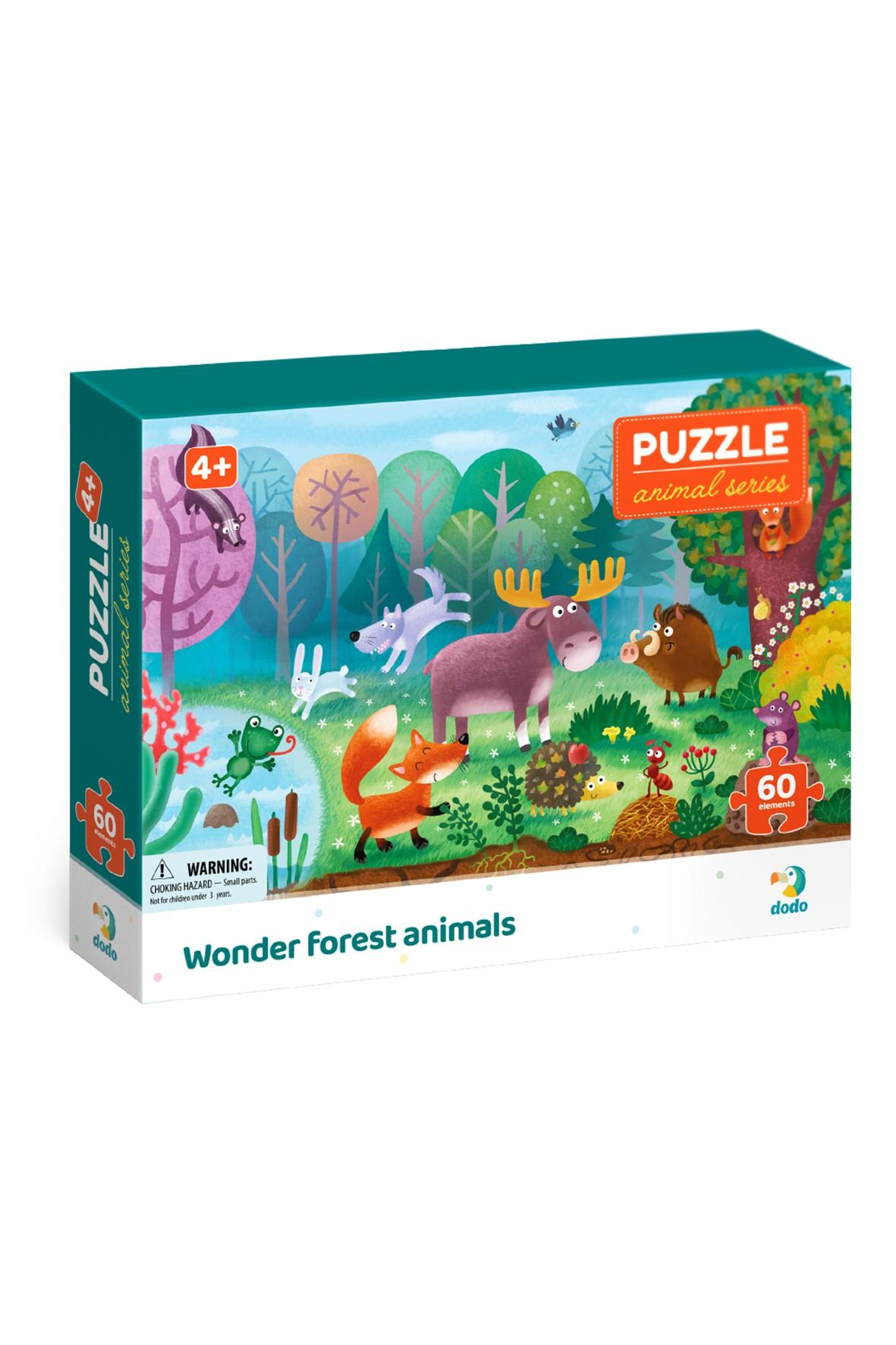 Puzzle biomy  Zwierzęta leśne - 60 el wiek 4+