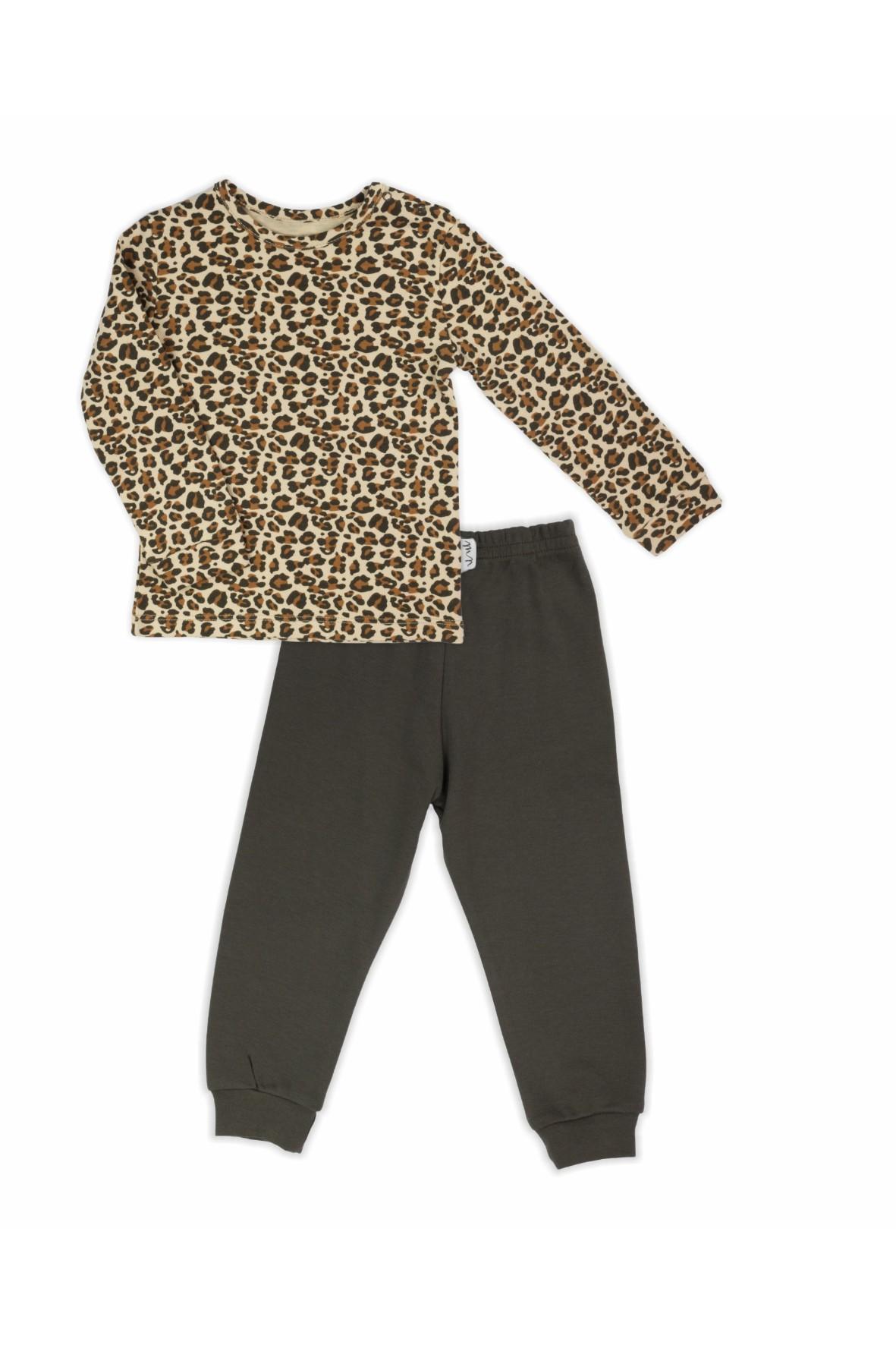 Piżama dwuczęściowa z długim rękawem dla dziewczynki - Panterka