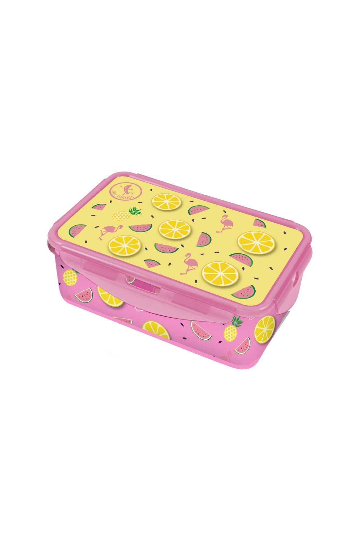 Pudełko śniadaniowe- Flamingi 13,5×20,5×7cm