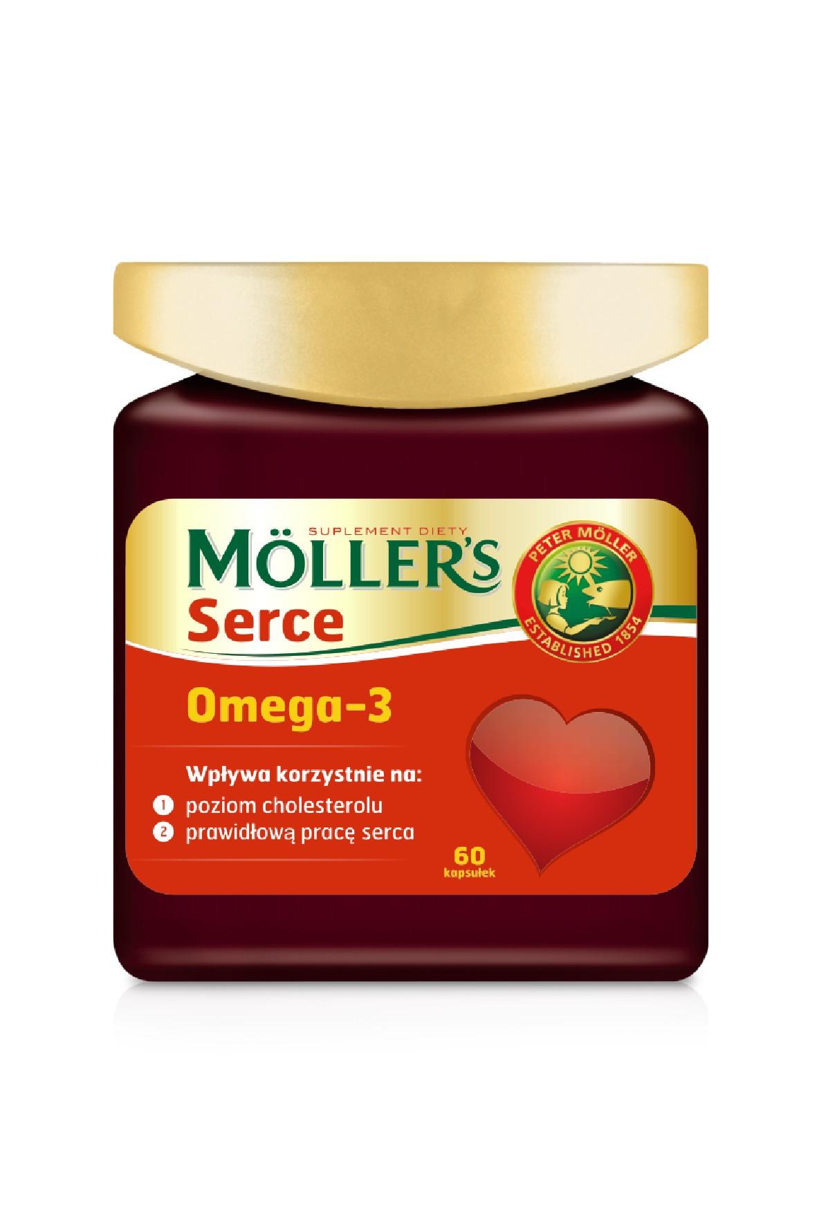 Möller's Serce suplement diety 60 szt.