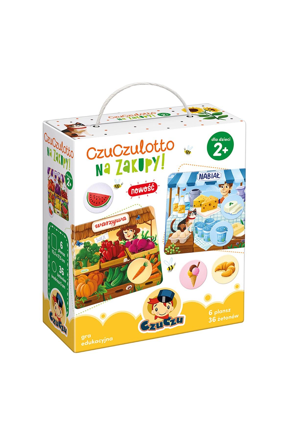 """Gra Edukacyjna """"Czuczulotto na zakupy"""" 2+ CzuCzu"""