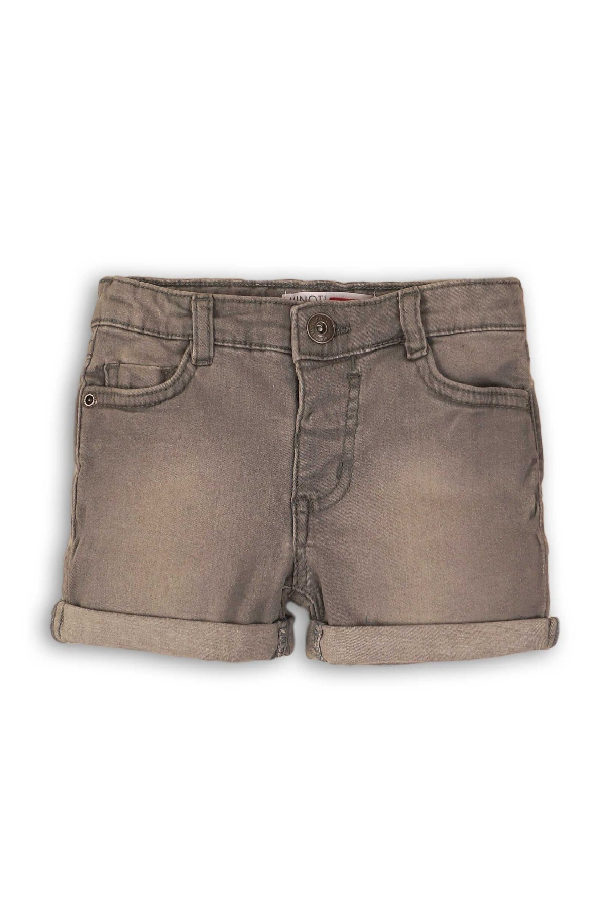 Spodenki dziewczęce szare jeansowe