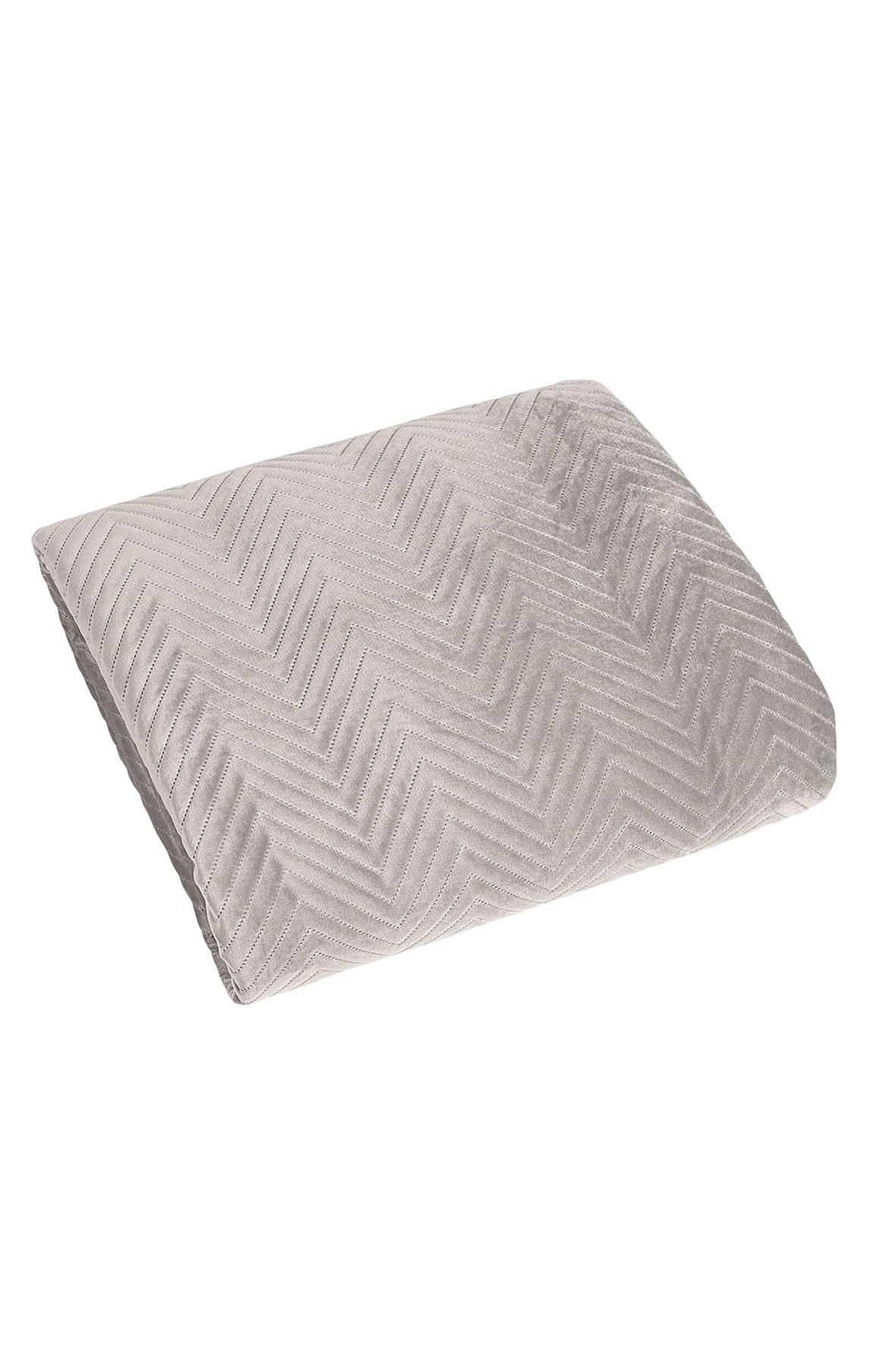 Narzuta na łóżko - beżowa  w jodełkę- 220x240 cm