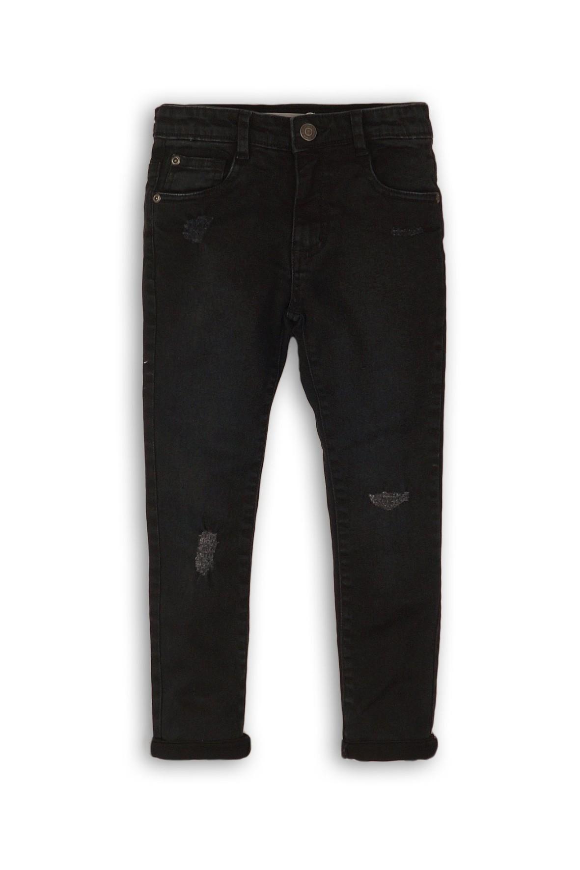 Spodnie jeansowe niemowlęce z przetarciami