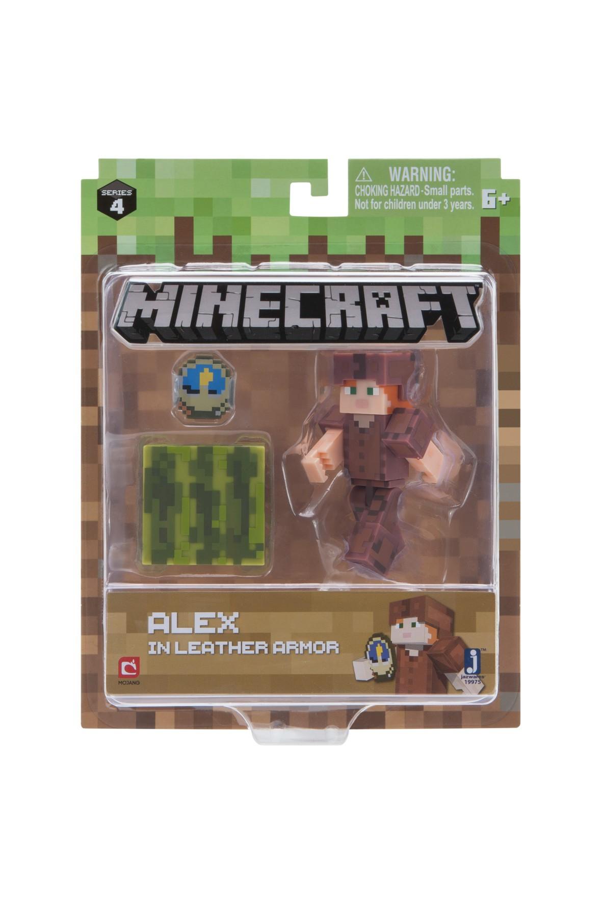 Minecraft Alex w skórzanej zbroi- figurka