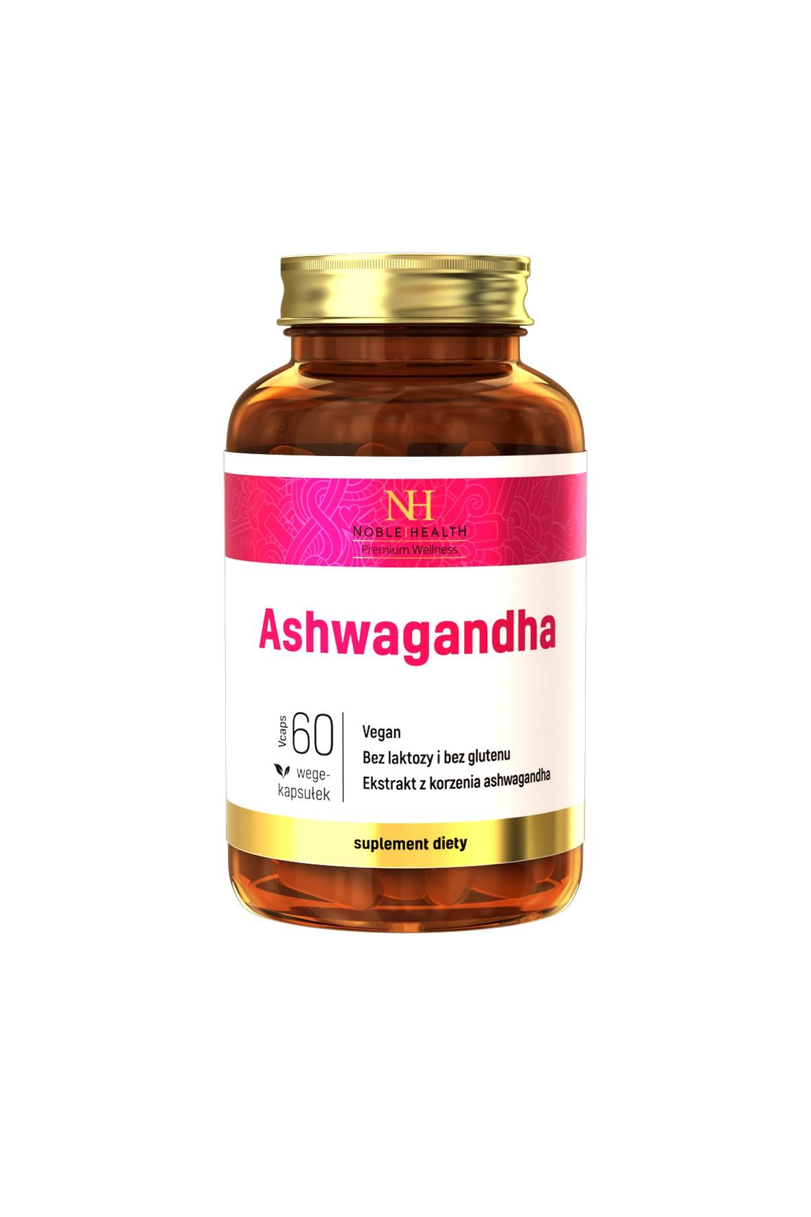 Ashwaghanda - osłabienie zmęczenie koncentracja 60 kapsułek