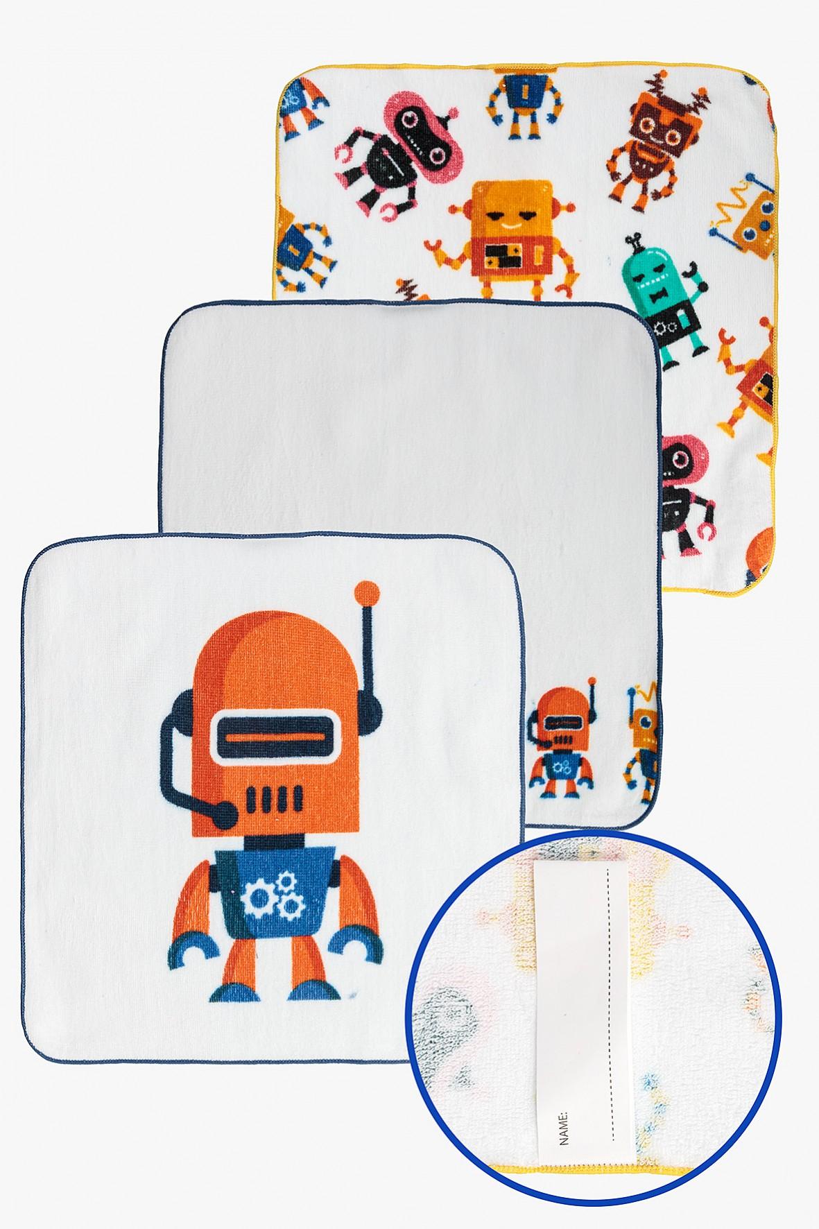 Ręczniki Roboty 30x30cm 3-pack