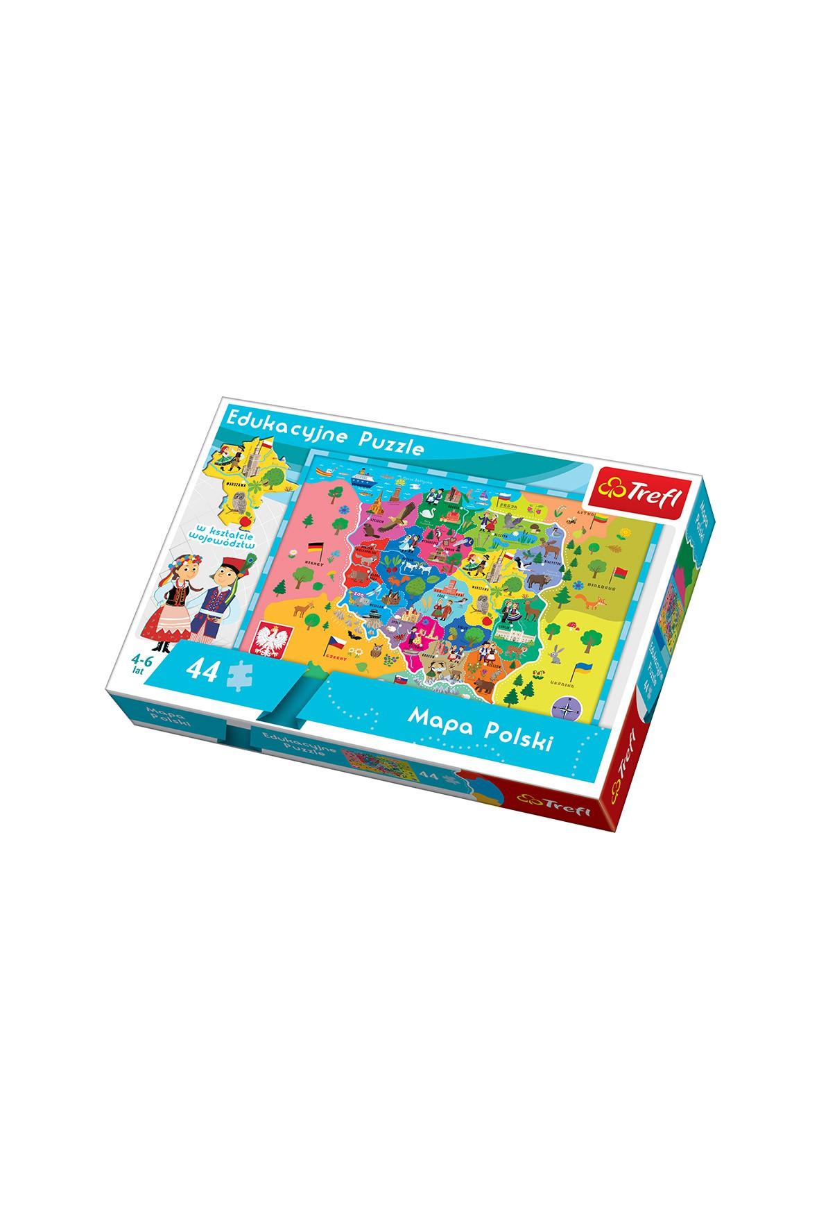 Puzzle eduk- Mapa Polski