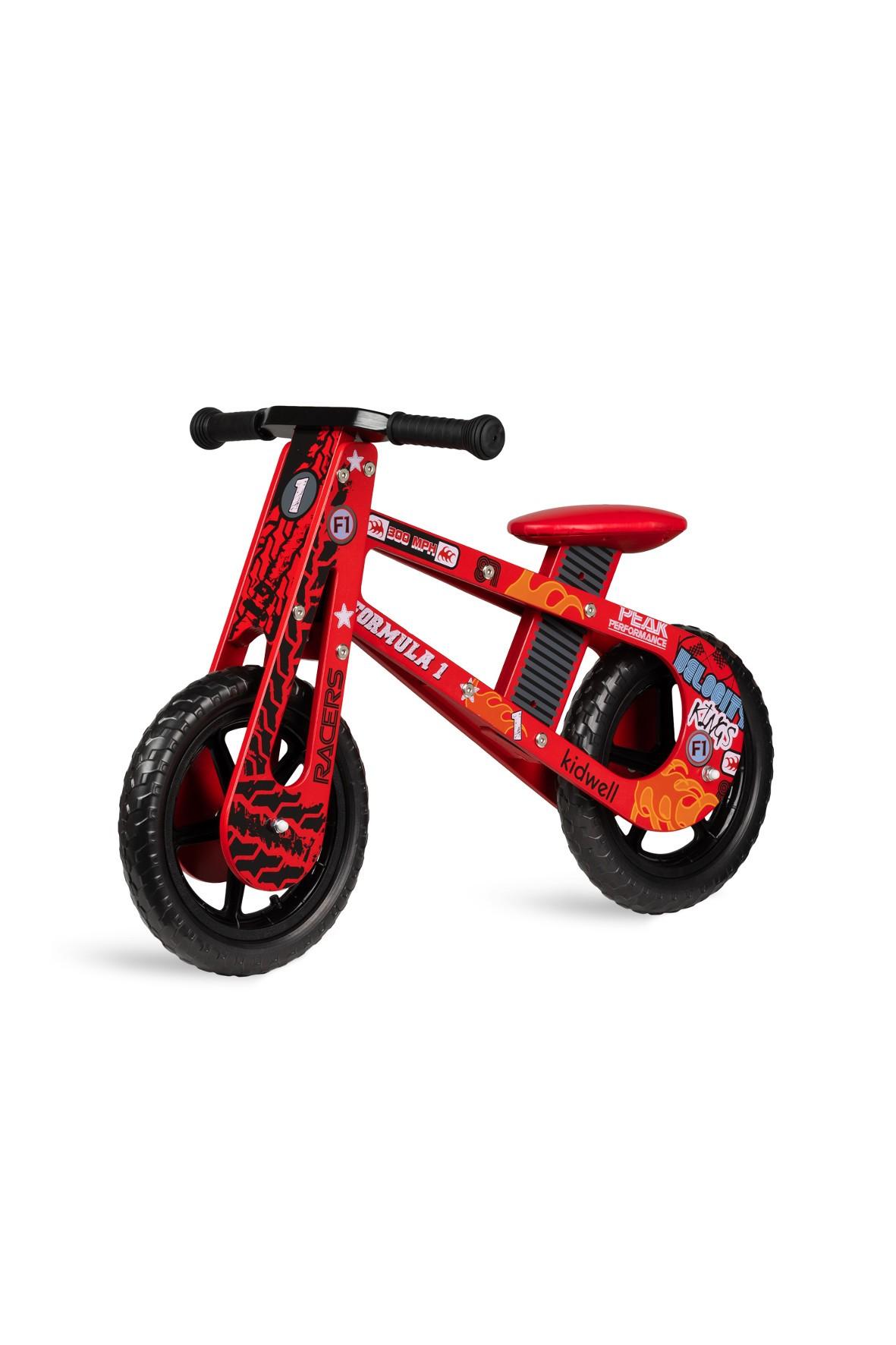 Rowerek drewniany Stark Formula czerwony 12msc+