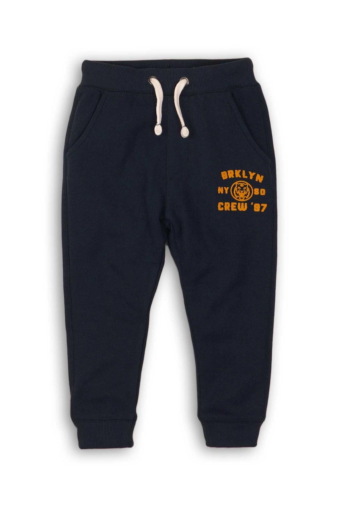 Dresowe spodnie dla chłopca-czarne