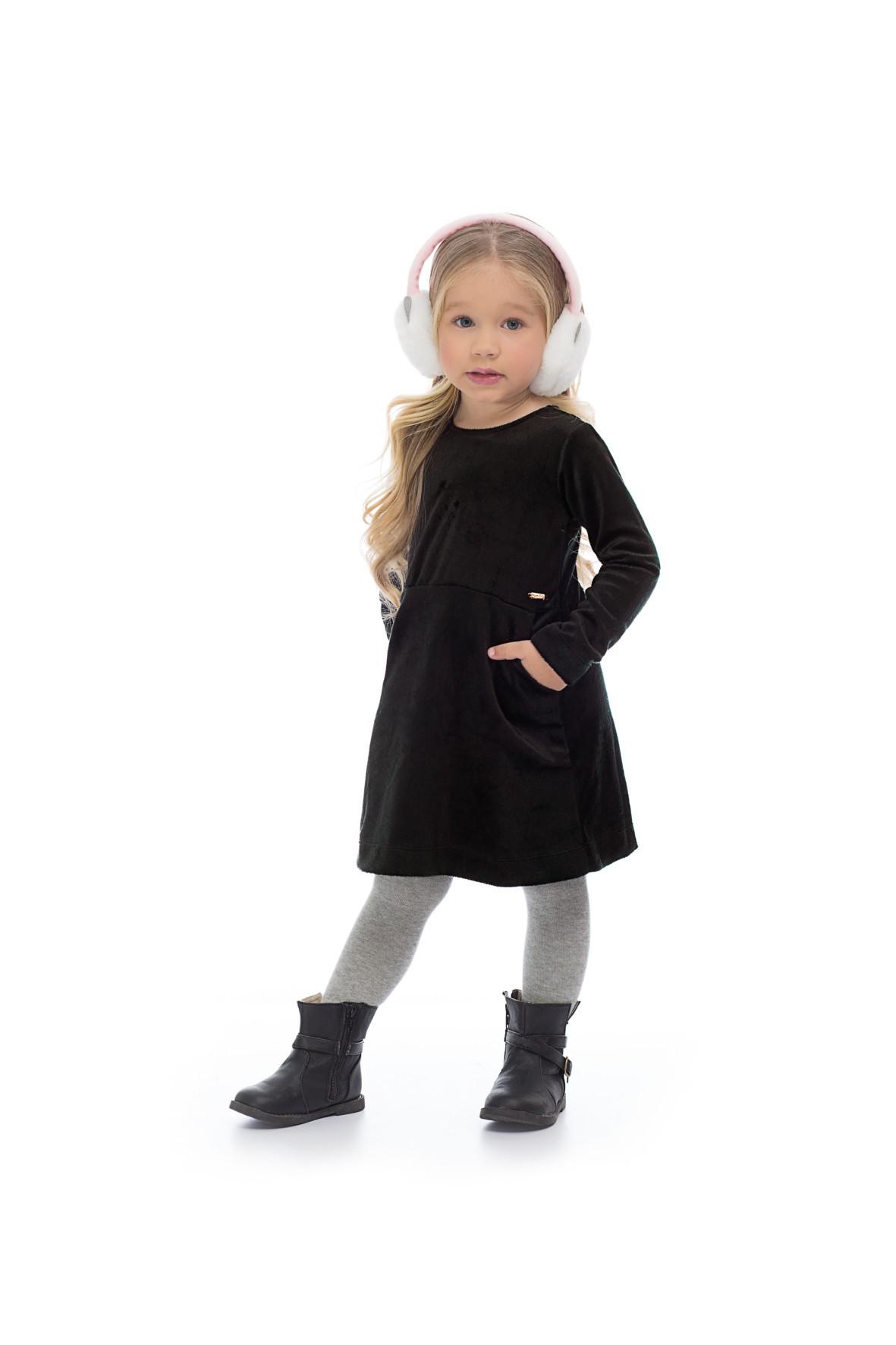 Sukienka czarna dla dziewczynki