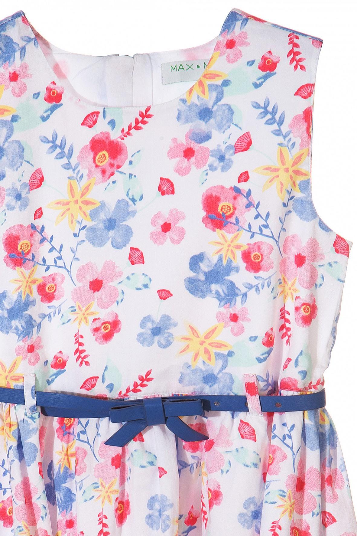 89631bec29 Elegancka sukienka w kwiaty dla dziewczynki- ubranie na specjalne okazje