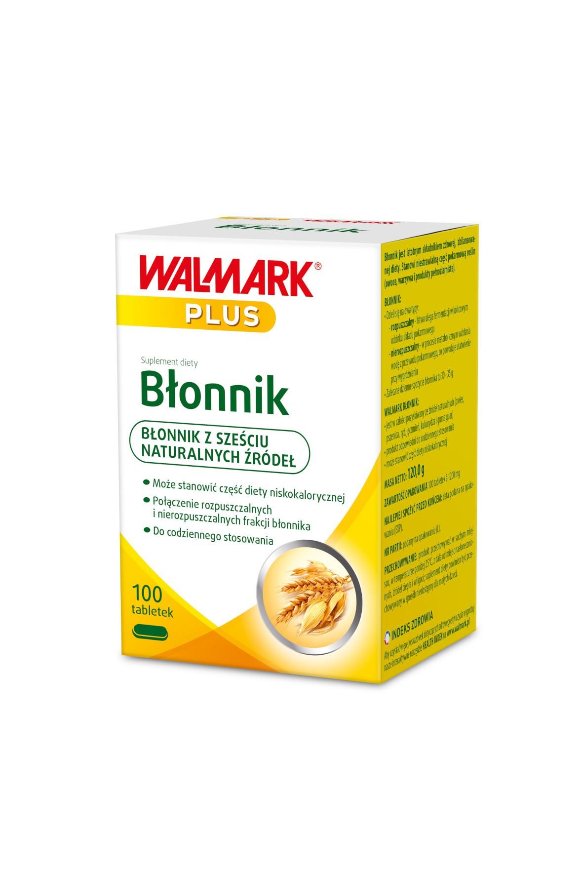 Błonnik - suplementy diety - 100 tabletek
