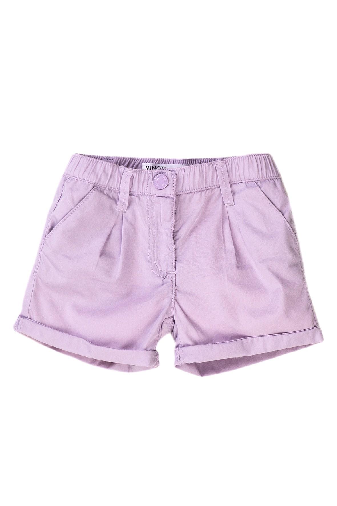Bawełniane szorty niemowlęce fioletowe