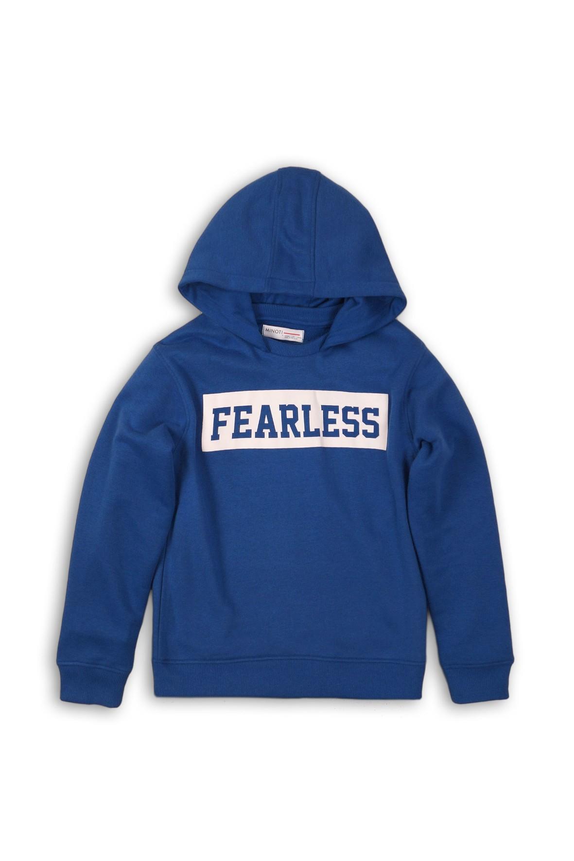 Bluza chłopięca z kapturem Fearless- niebieska