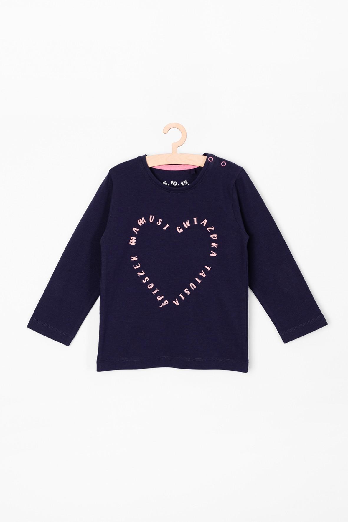 Bluzka dziewczęca z sercem