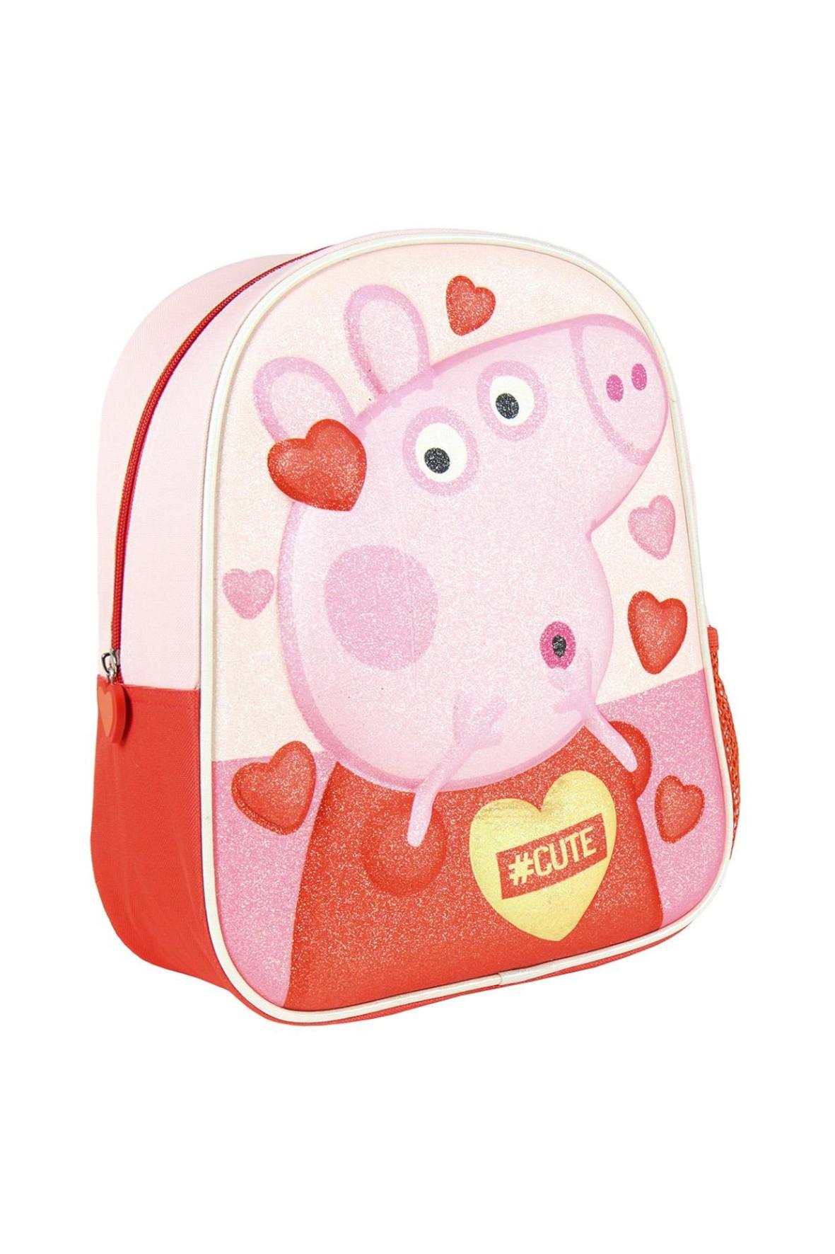 Peppa Pig - plecak 3D premium z brokatem