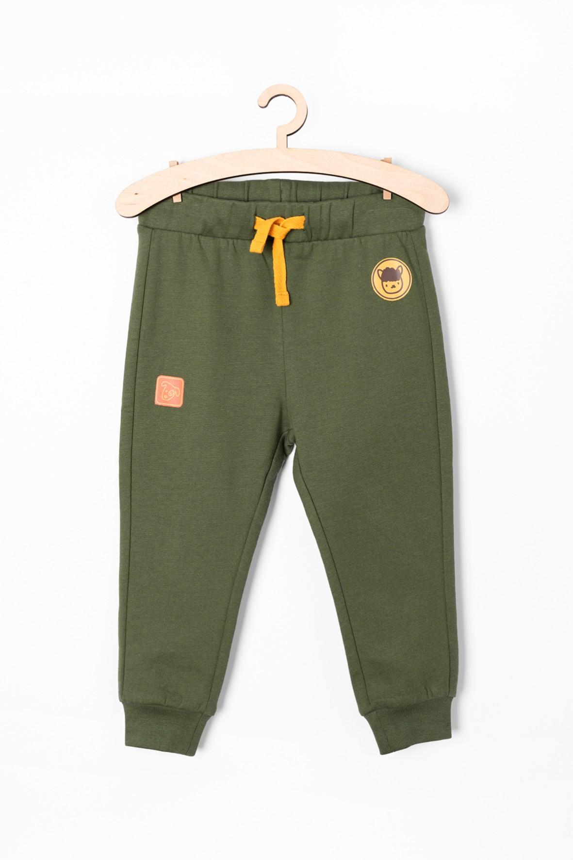 Spodnie dresowe niemowlęce - zielone