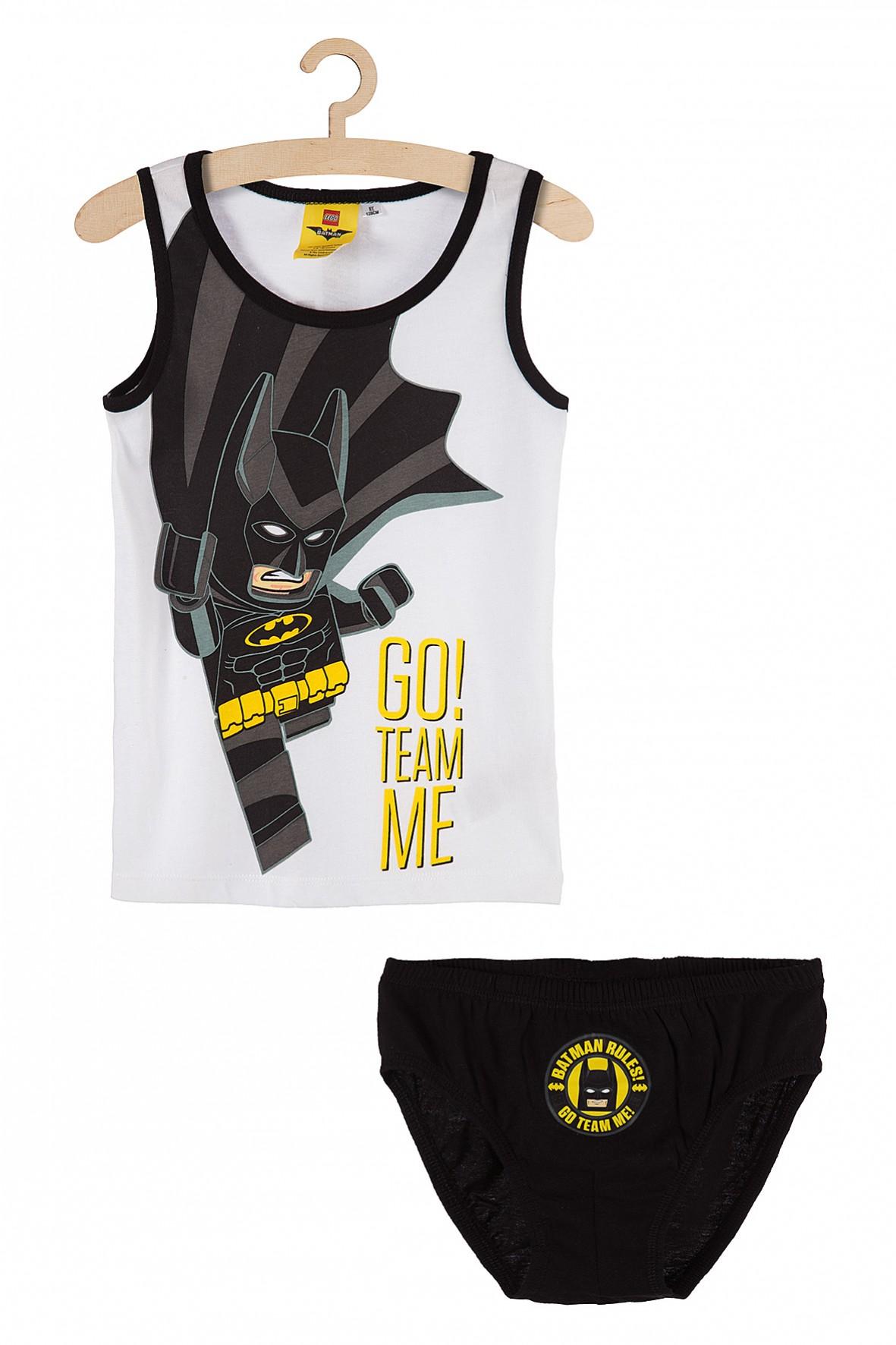 Komplet bieliźniany dla chłopca- majtki i koszulka na ramiączkach Batman