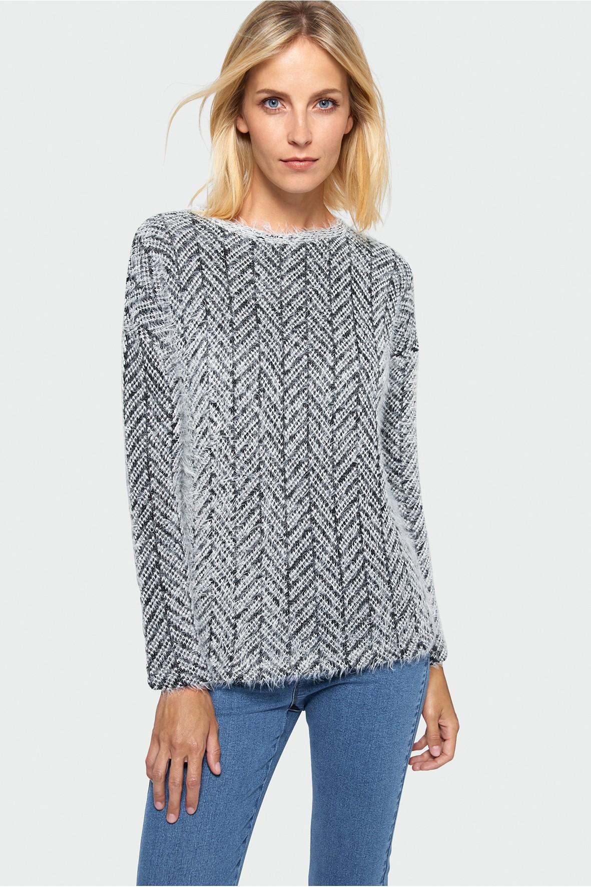 Sweter damski w jodełkę