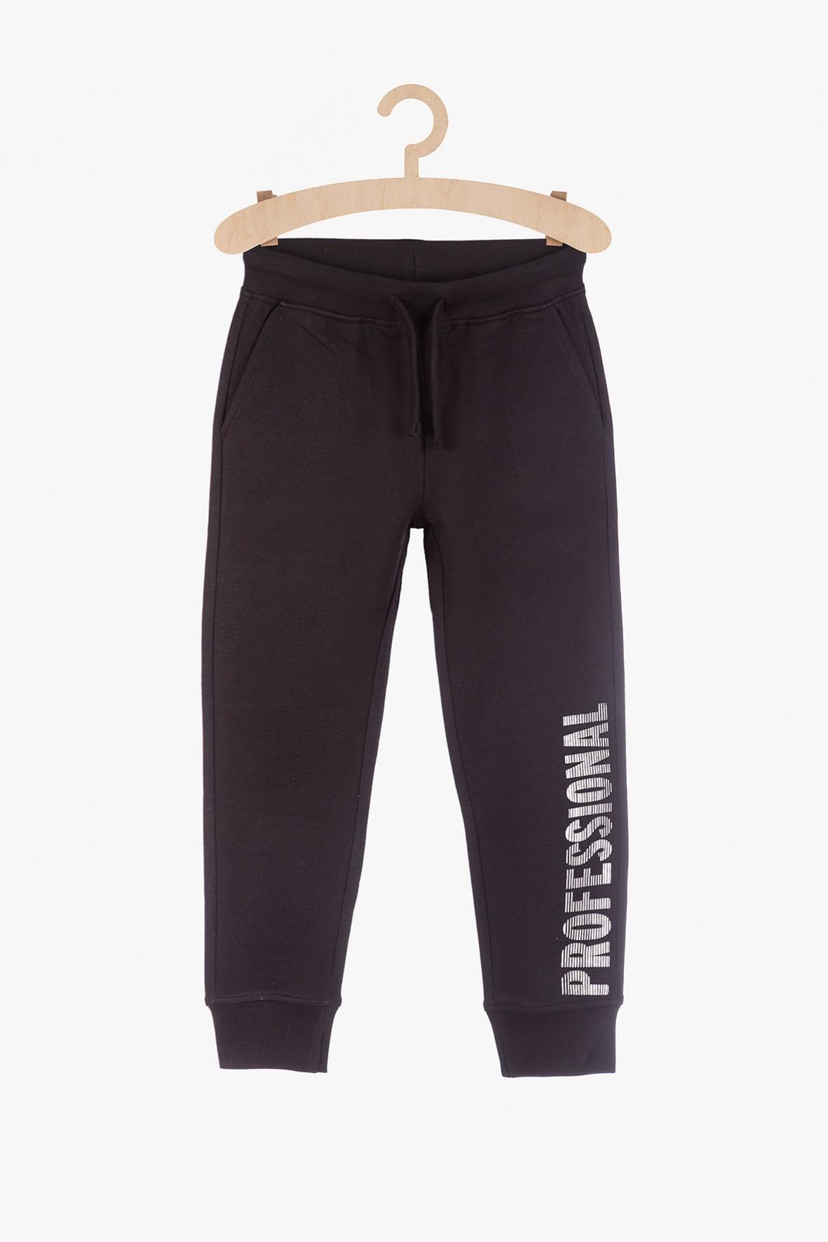 Czarne dresowe spodnie dla chłopca