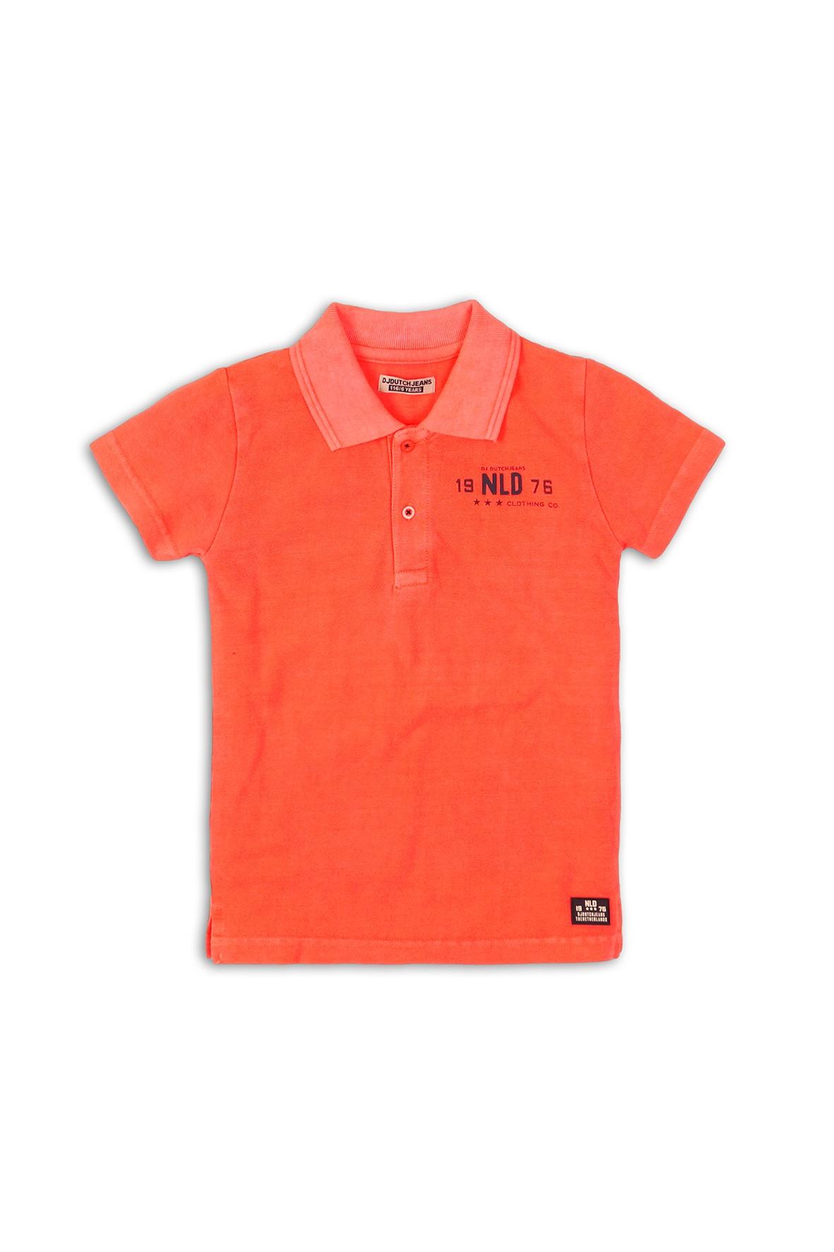 T-shirt chłopięcy pomarańczowy na lato