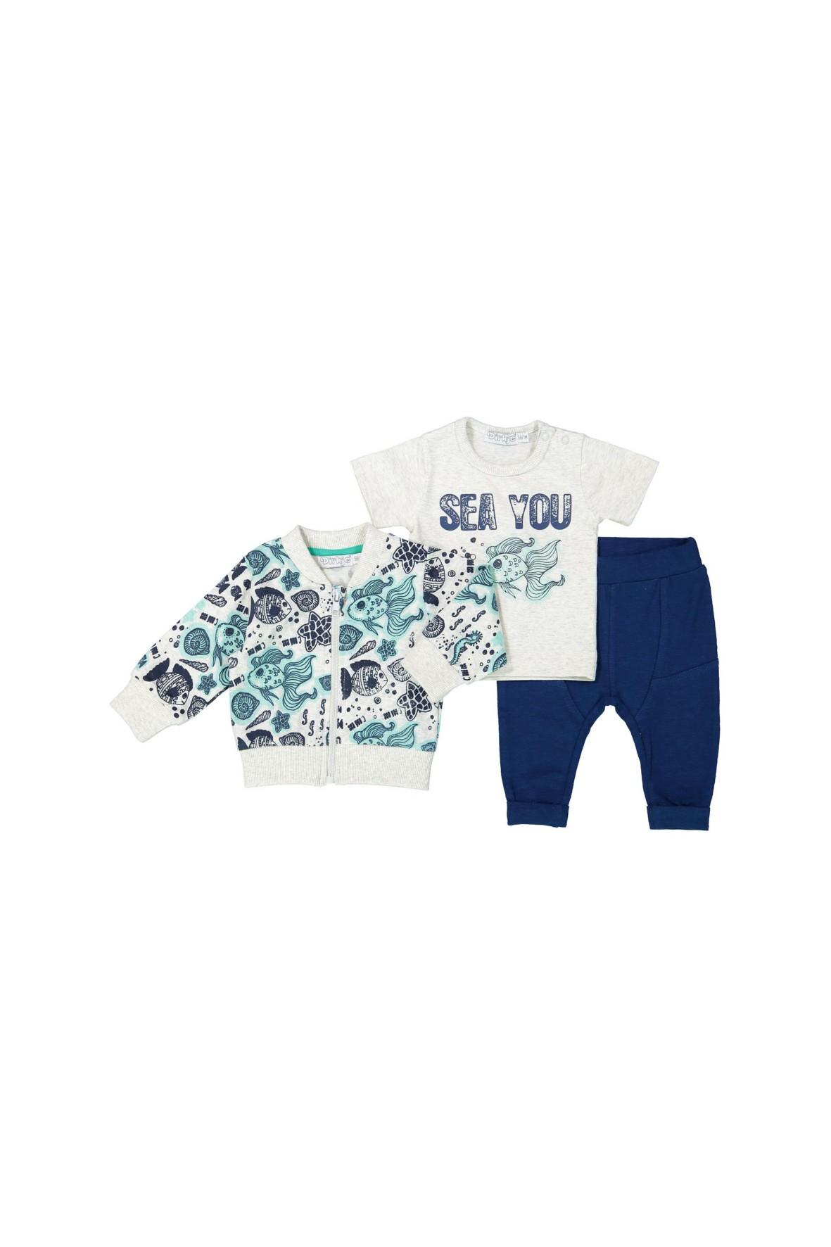 Komplet niemowlęcy bluza bluzka i spodnie