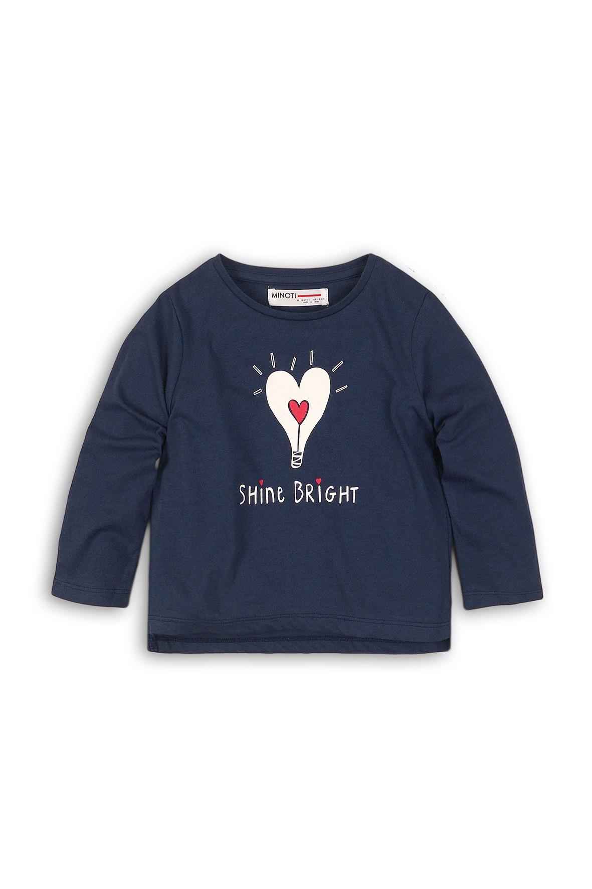 Bluzka dla niemowlaka- granatowa z długim rękawem