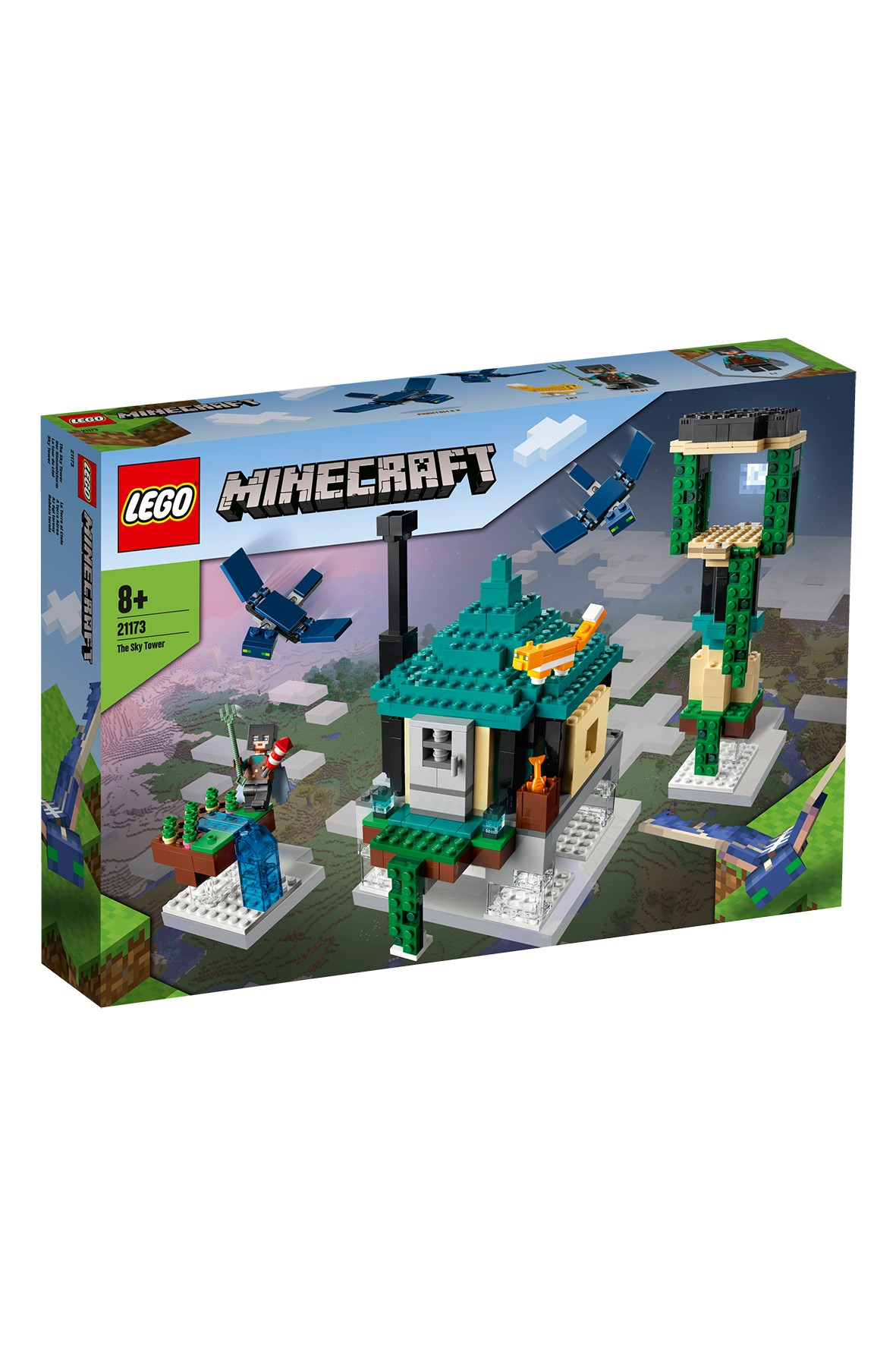 Klocki LEGO Minecraft - Podniebna wieża 21173-  565 elementów, wiek 8 +