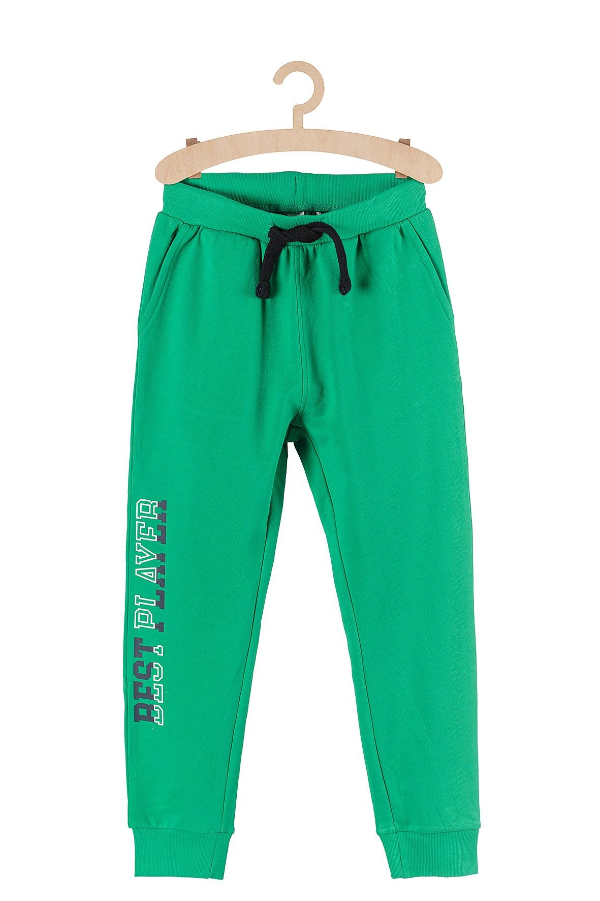 Spodnie dresowe dla chłopca- zielone
