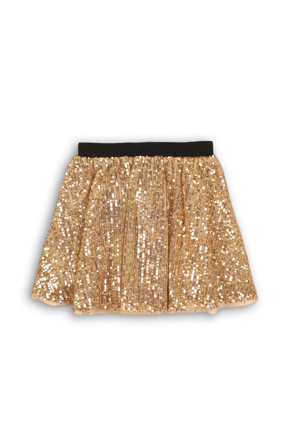 Spódnica ozdobiona złotymi cekinami