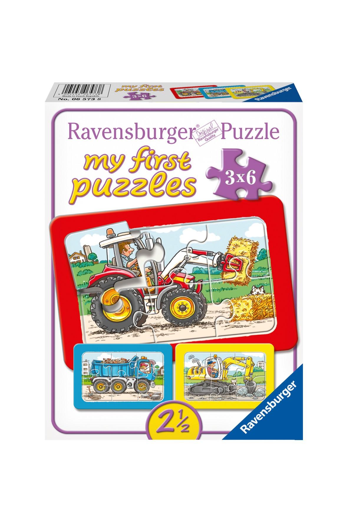 Moje pierwsze puzzle - pojazdy - 3X6 elementów 2,5+