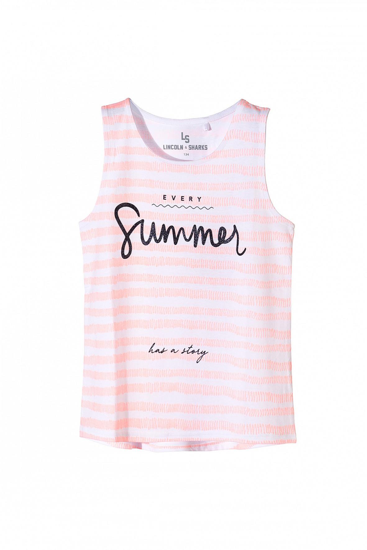 Bluzka na lato dla dziewczynki na ramiączka