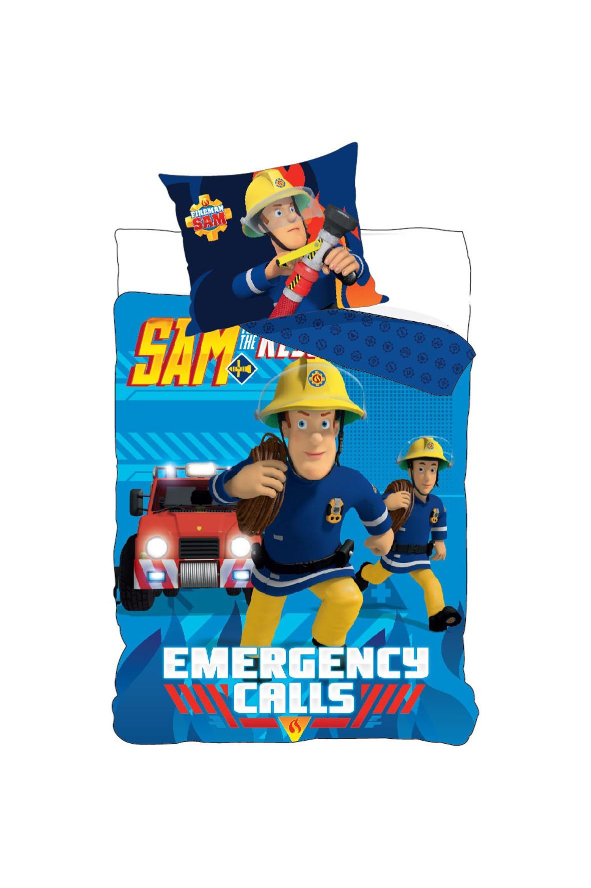 Strażak Sam- pościel bawełna 160x200+70x80 cm