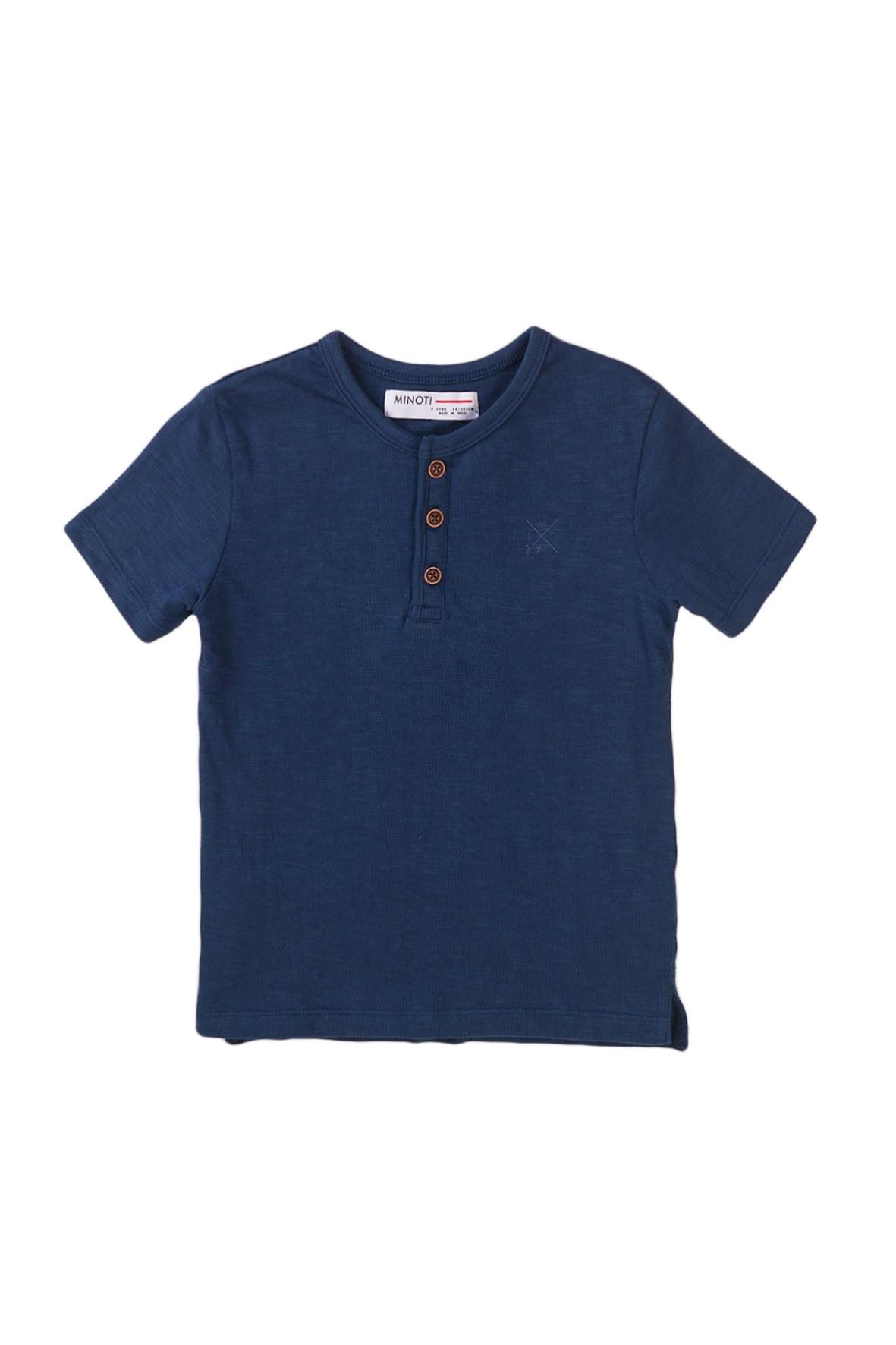 T-shirt chłopięcy bawełniany w kolorze granatowym
